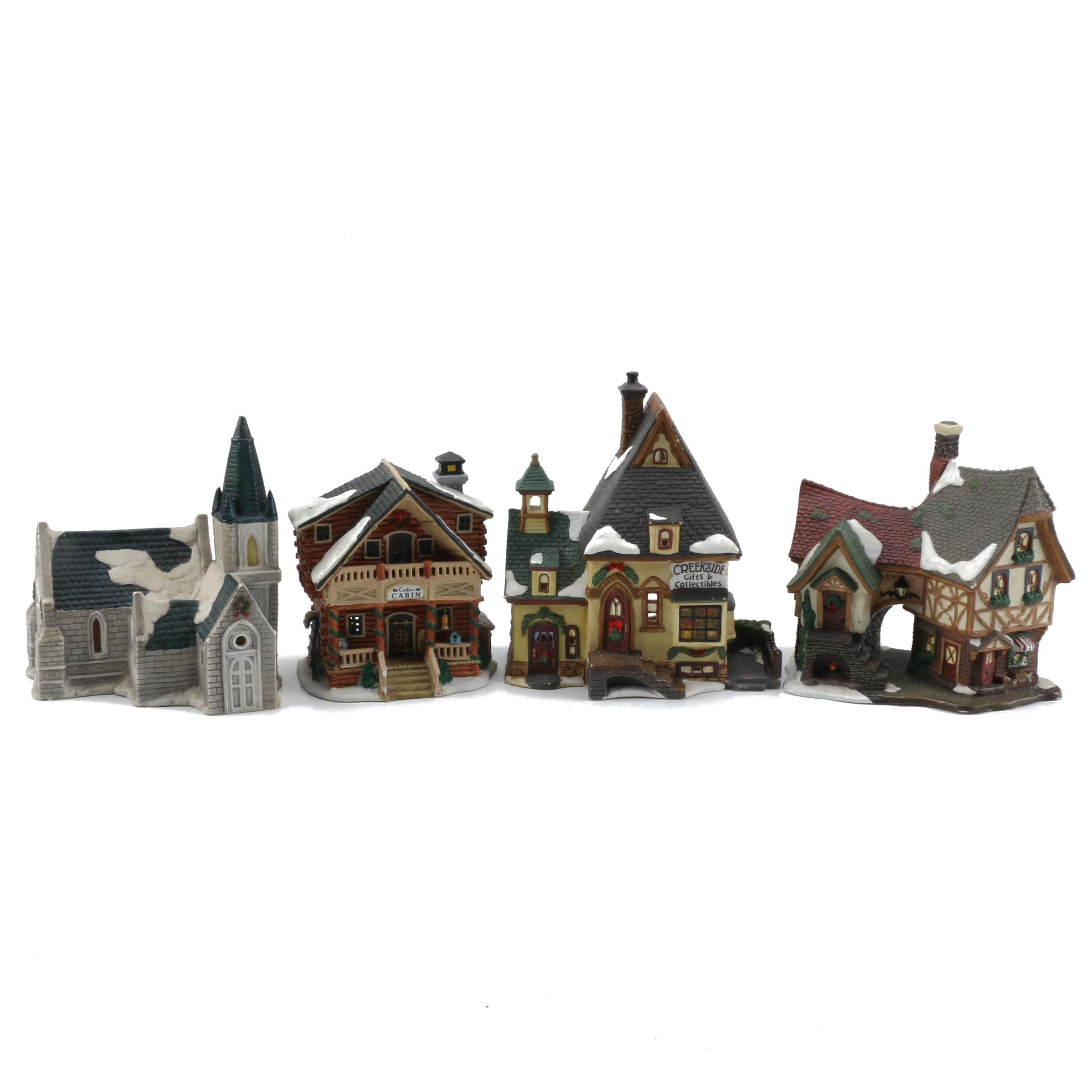 Ceramic Christmas Village Figurines
