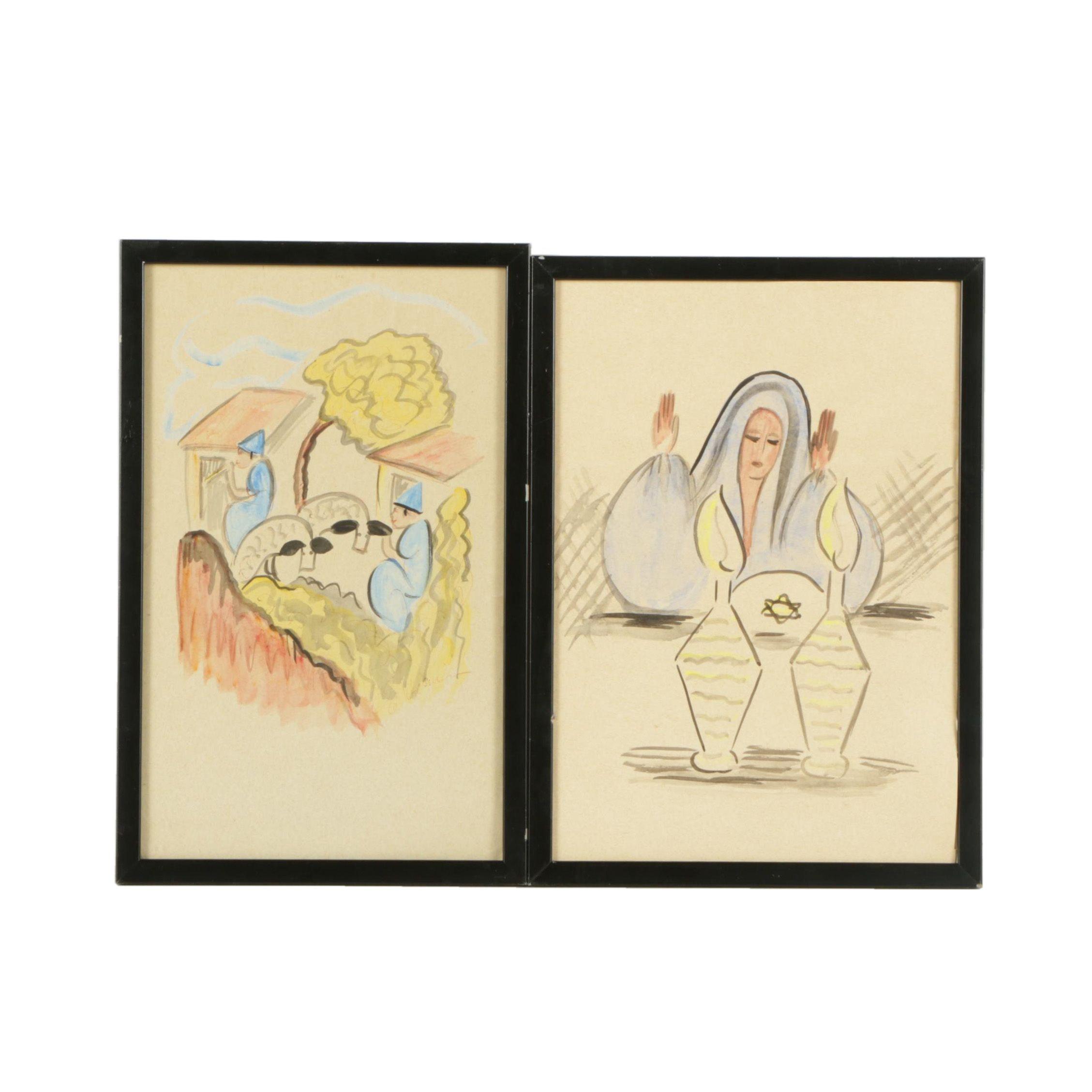 Watercolor Paintings on Paper