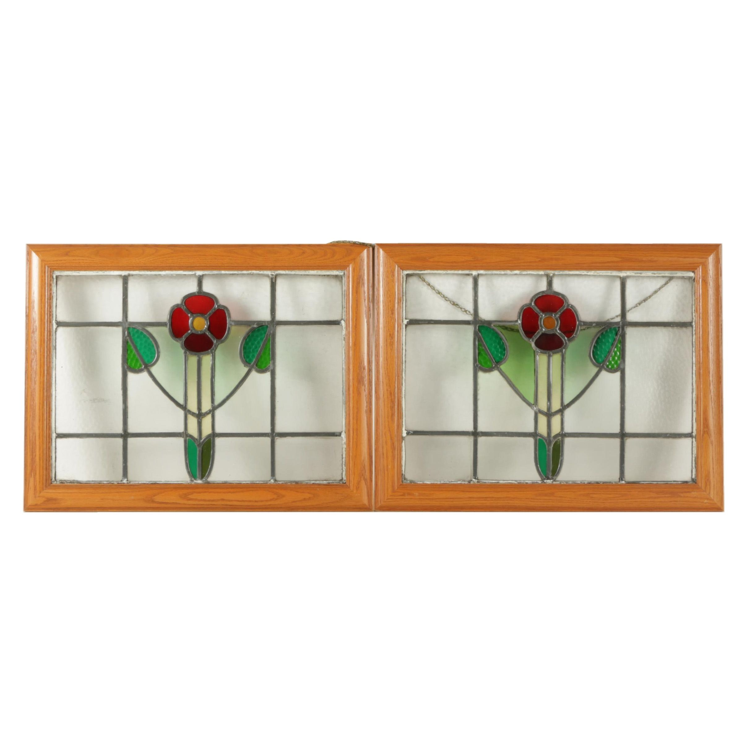Stained Glass Wall Hangings of Flowers