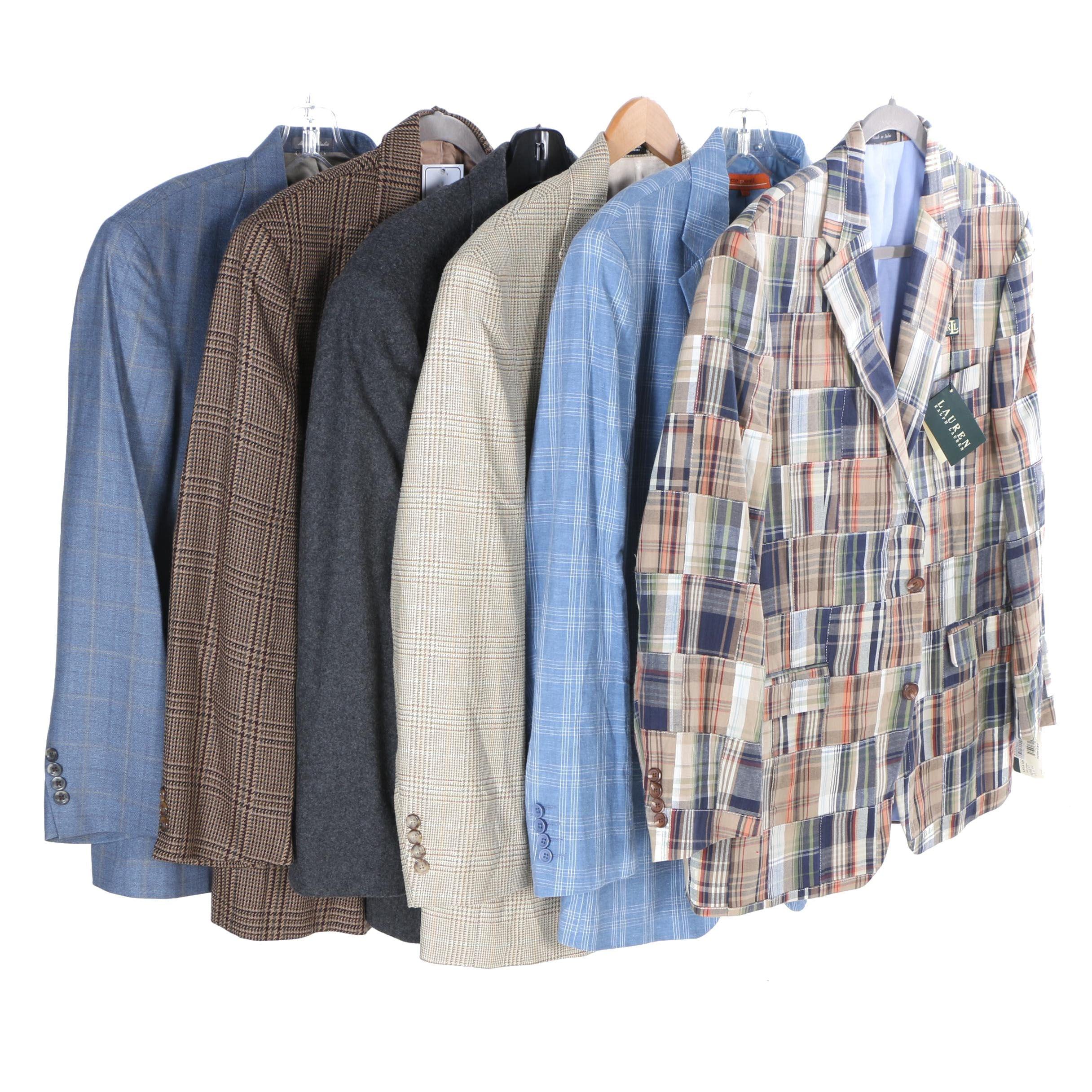 Men's Suit Jackets Including Oscar de la Renta