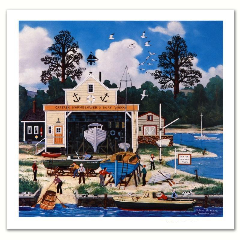 """Salem Shipyard"" Limited Edition Lithograph"
