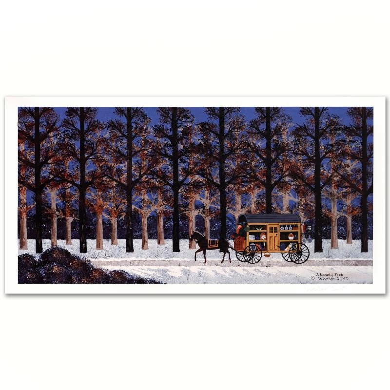 """A Lonely Trek"" Limited Edition Lithograph by Jane Wooster Scott"