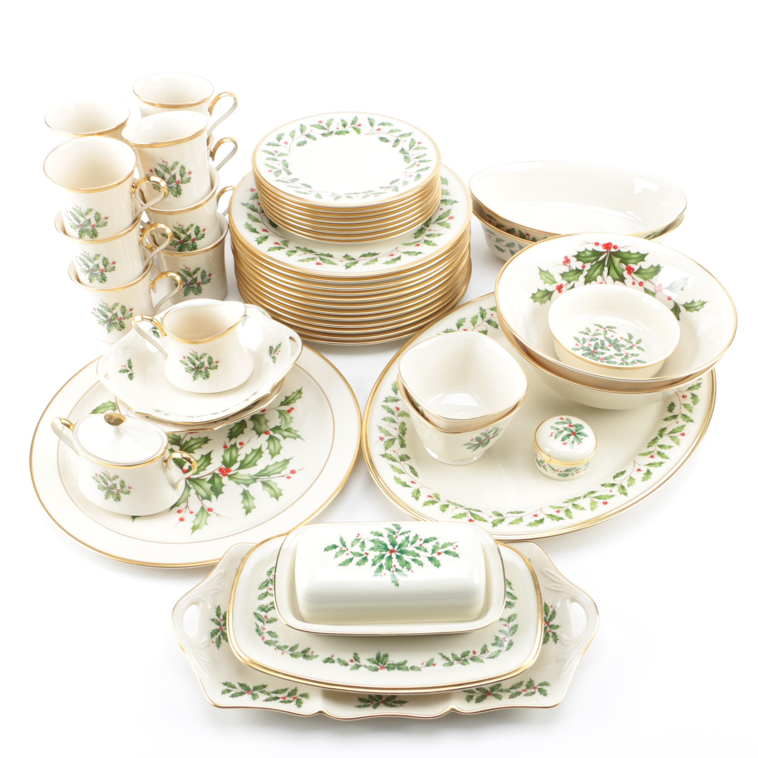 "Lenox ""Holiday"" Porcelain Tableware"