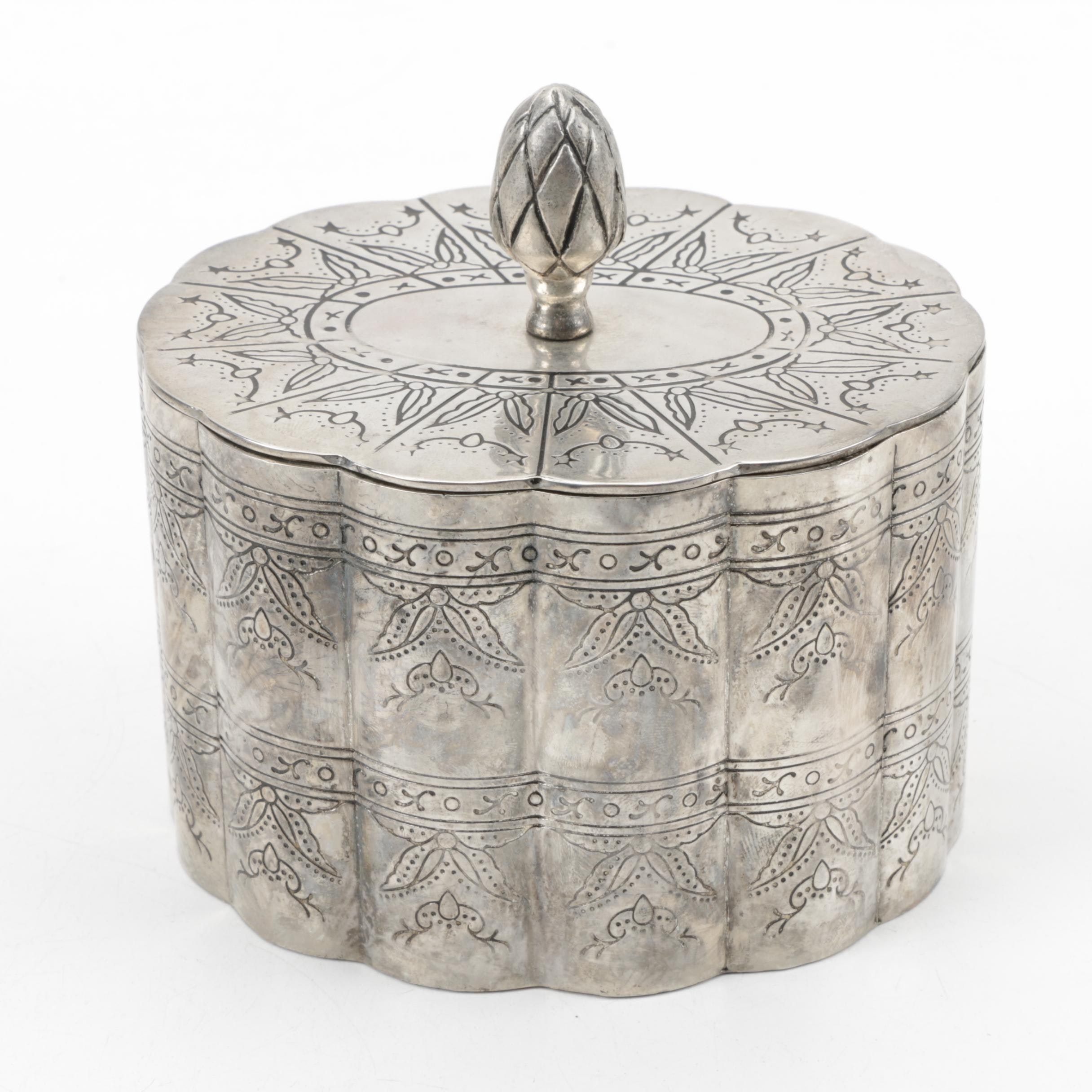 Silver Plate Trinket Box