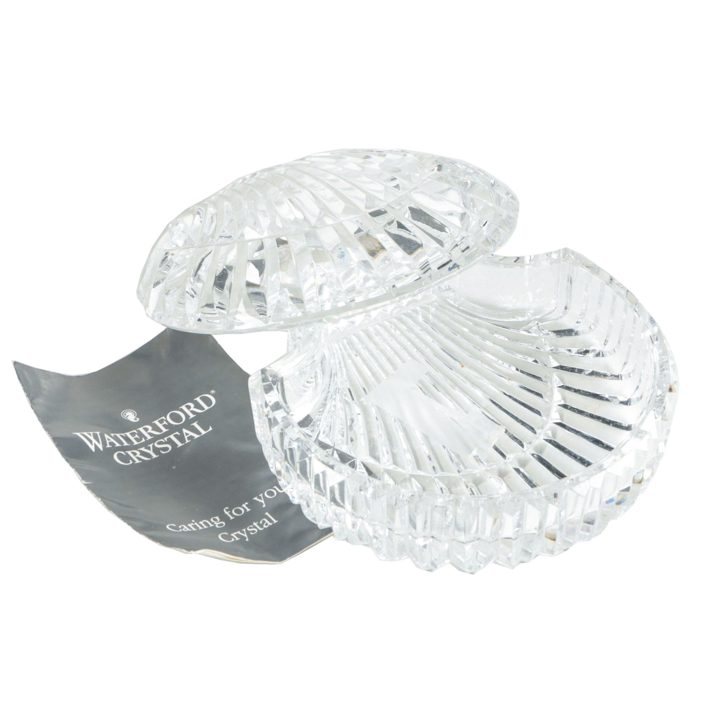 Waterford Crystal Shell Trinket Box