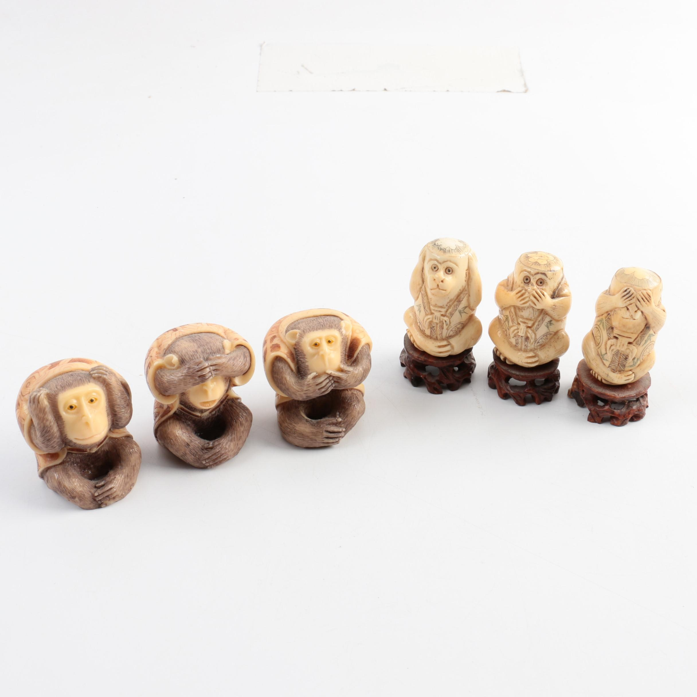 Chinese Carved Bone Figurines