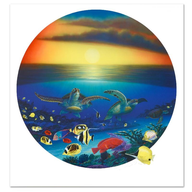 """""""Sea Turtle Reef"""" Limited Edition Lithograph"""