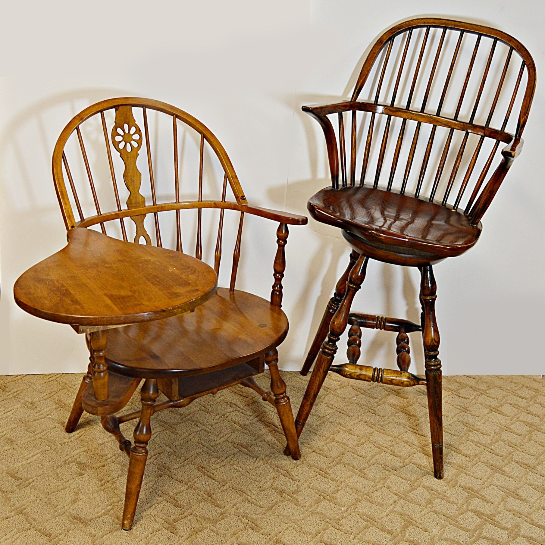 Windsor Bar Chair and Hale of Vermont Windsor Writing Desk