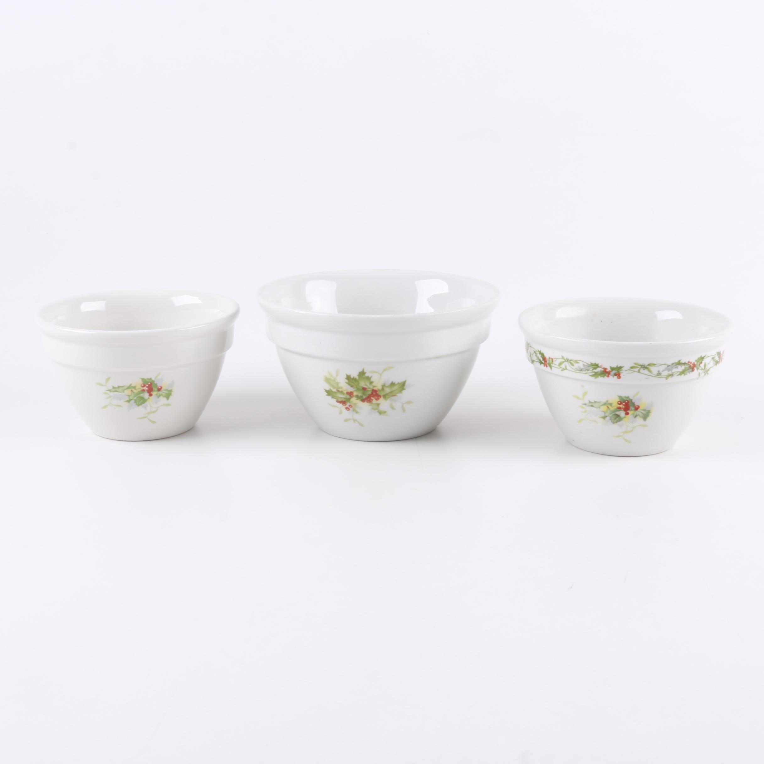 Vintage Hall Stoneware Mixing Bowls