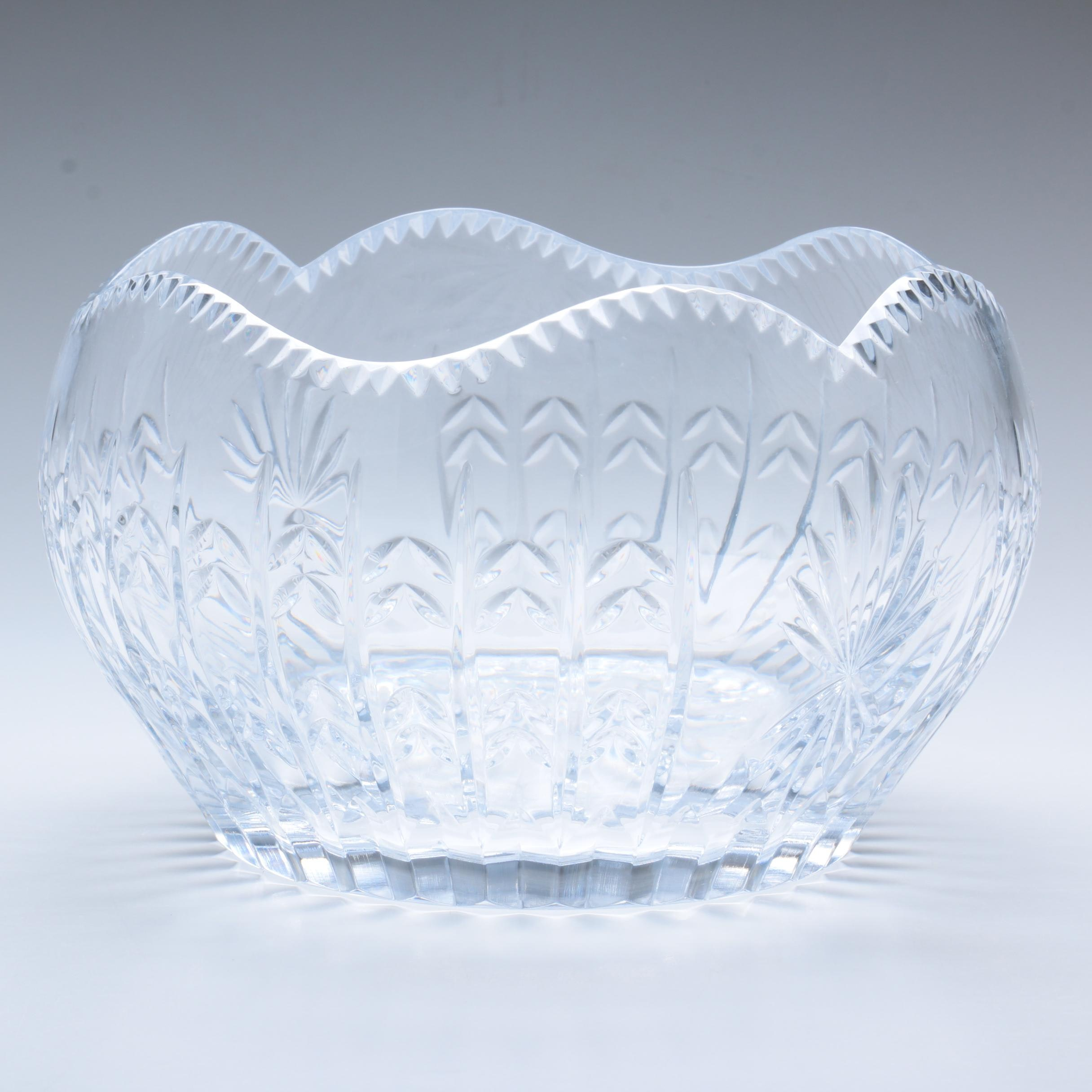 "Igor Carl Faberge ""Empress Crown"" Crystal Bowl"