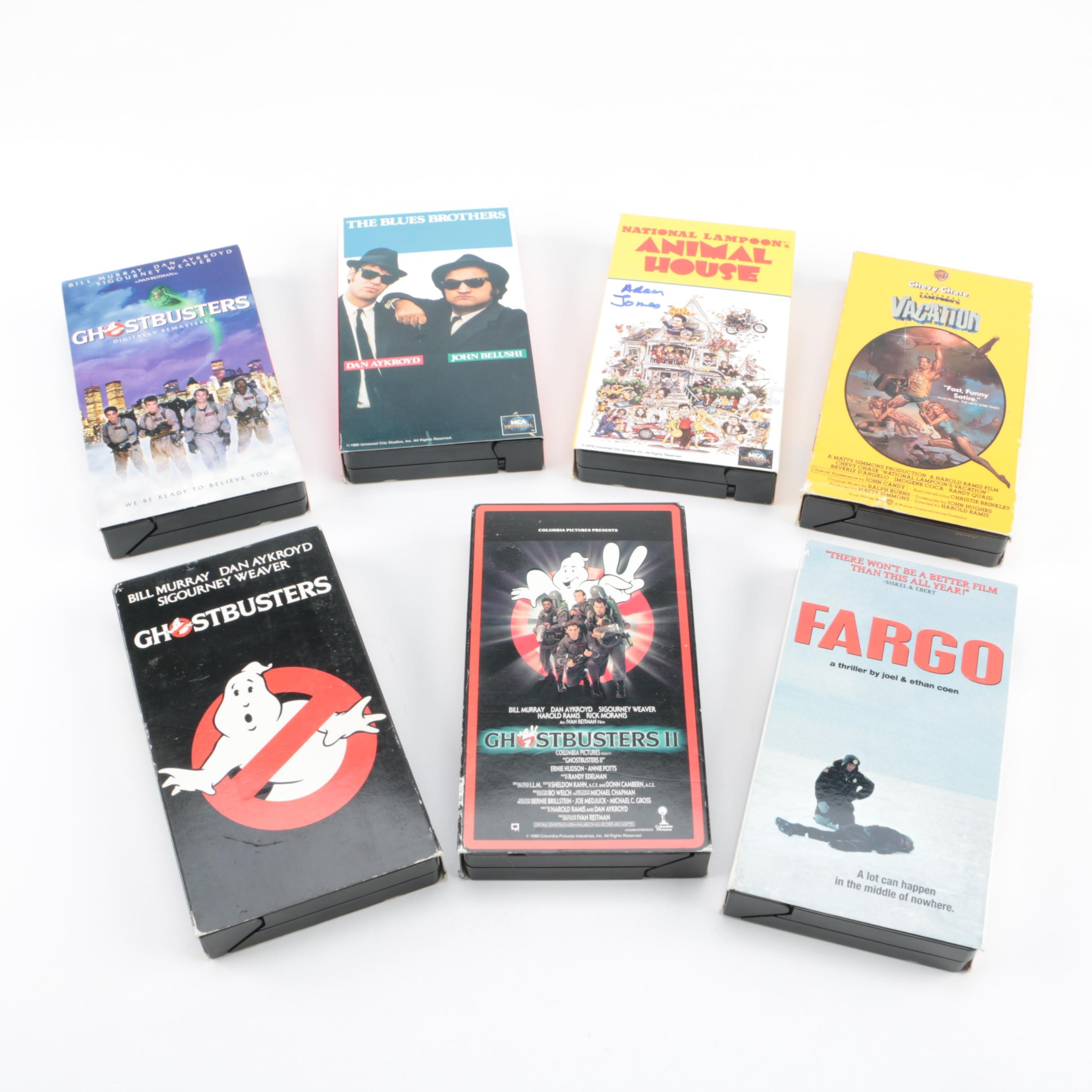"""Animal House"", ""Blues Brothers"" and Other Classic Comedy VHS Tapes"