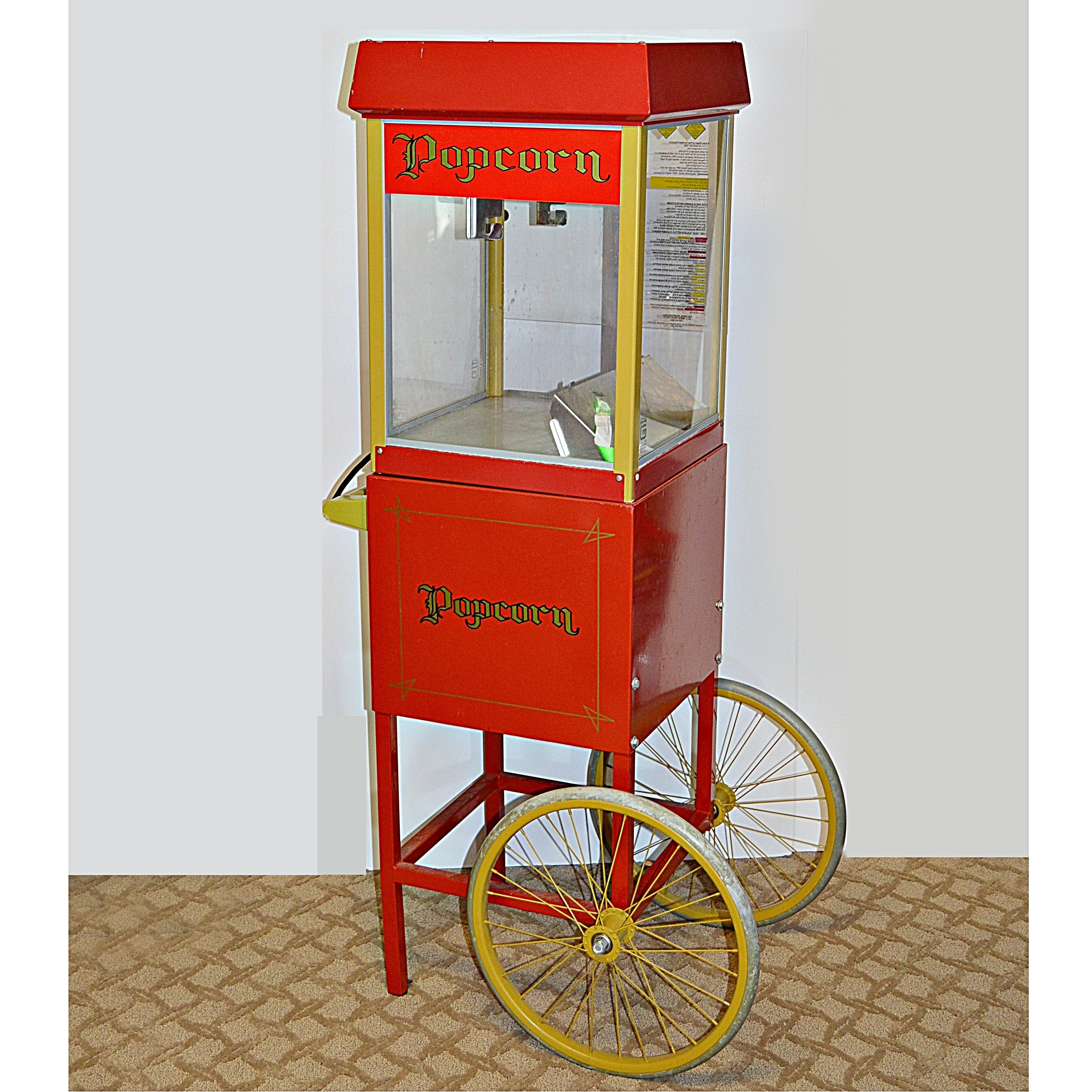 "Gold Medal ""Fun Pop"" Antique Style Popcorn Cart"