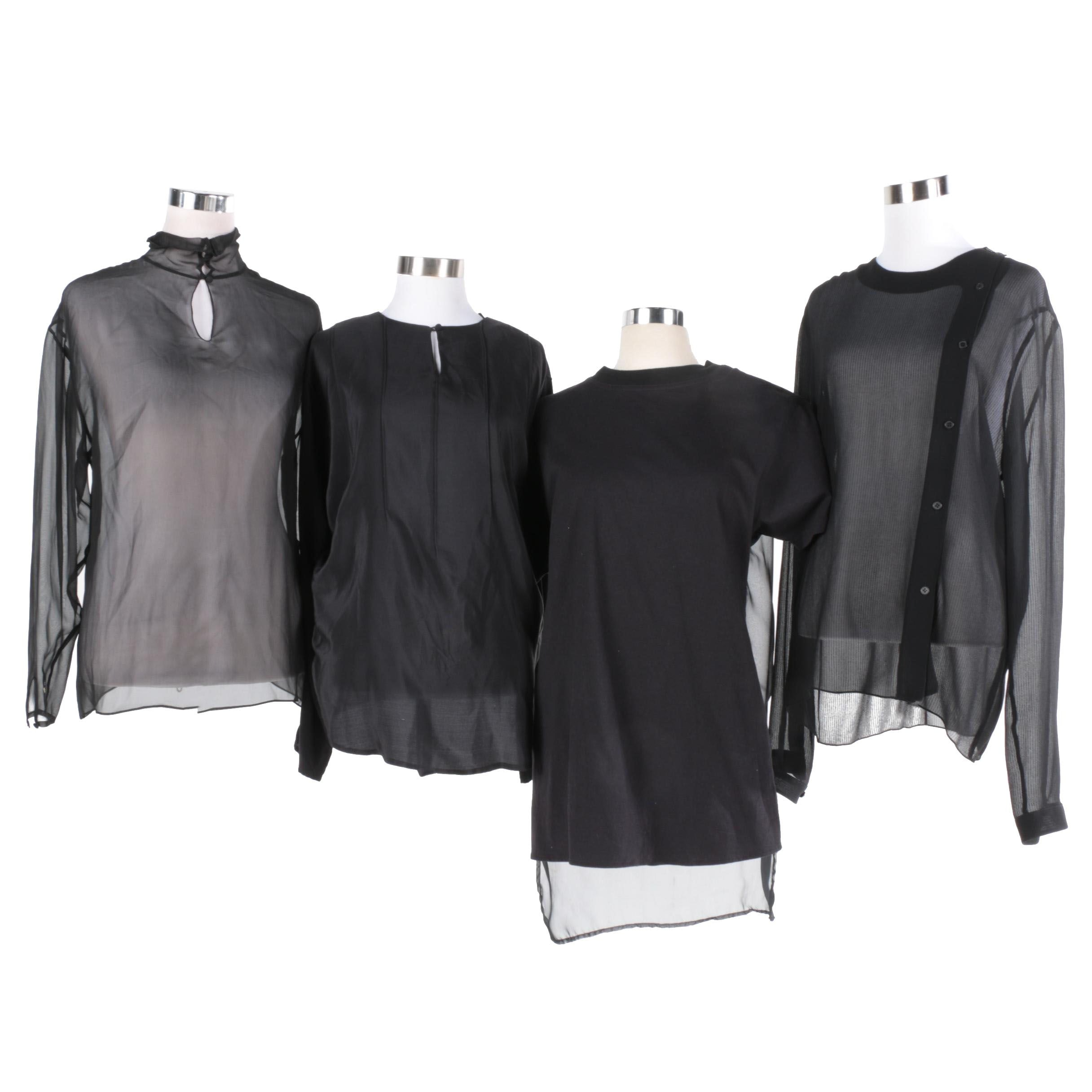 Women's Black Tops Including Calvin Klein and Flora Kung