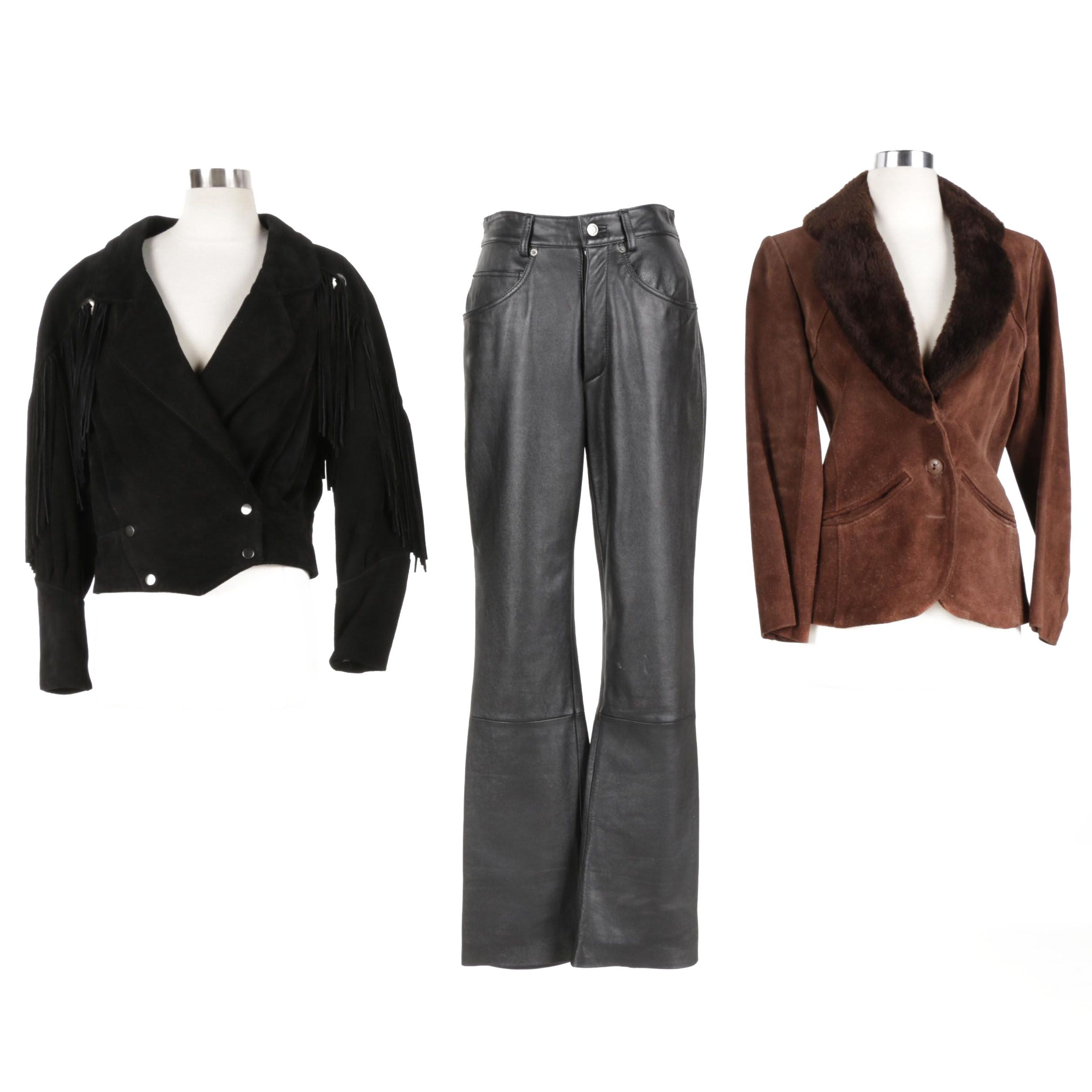 Women's Leather Jackets and Pants