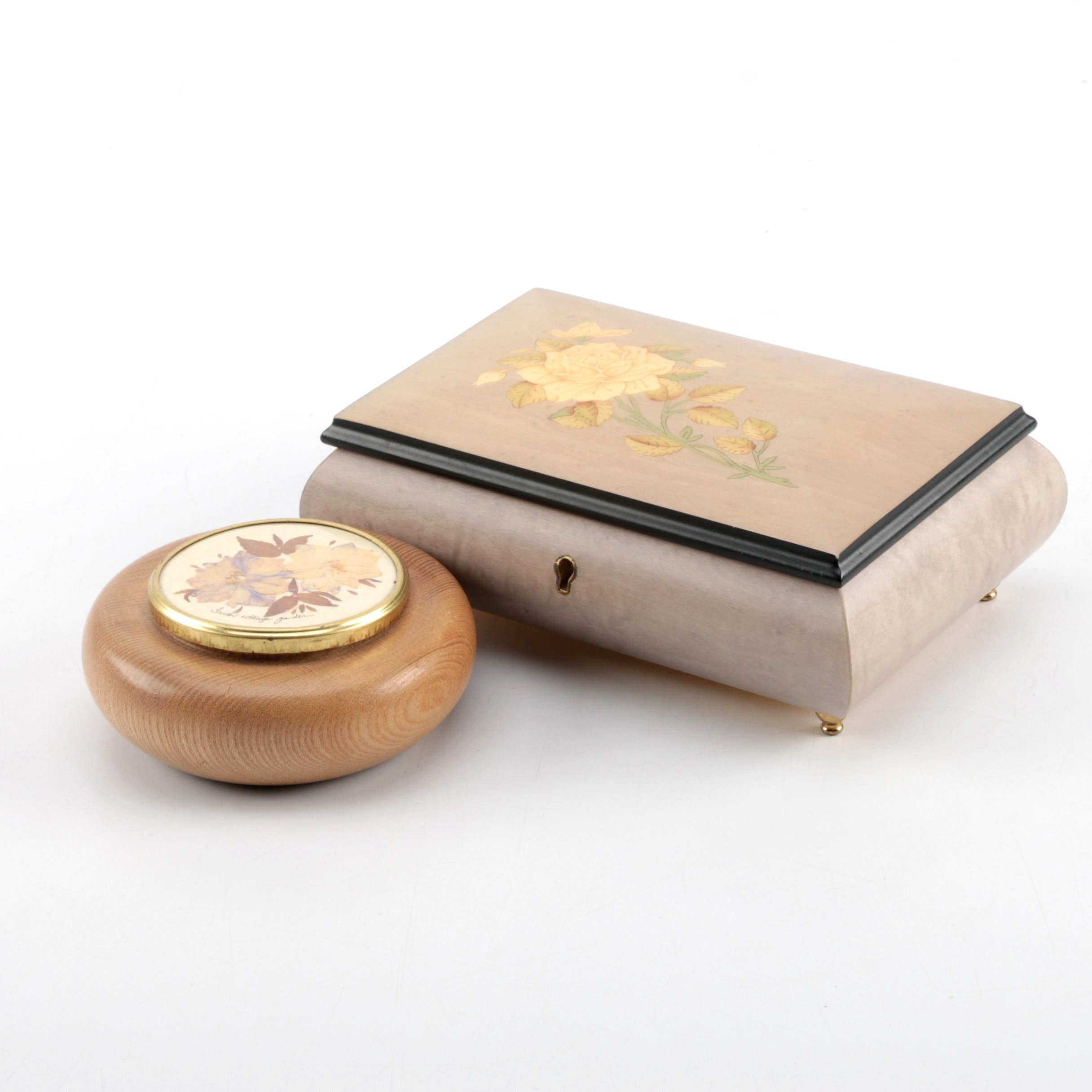 Vintage Music and Trinket Boxes