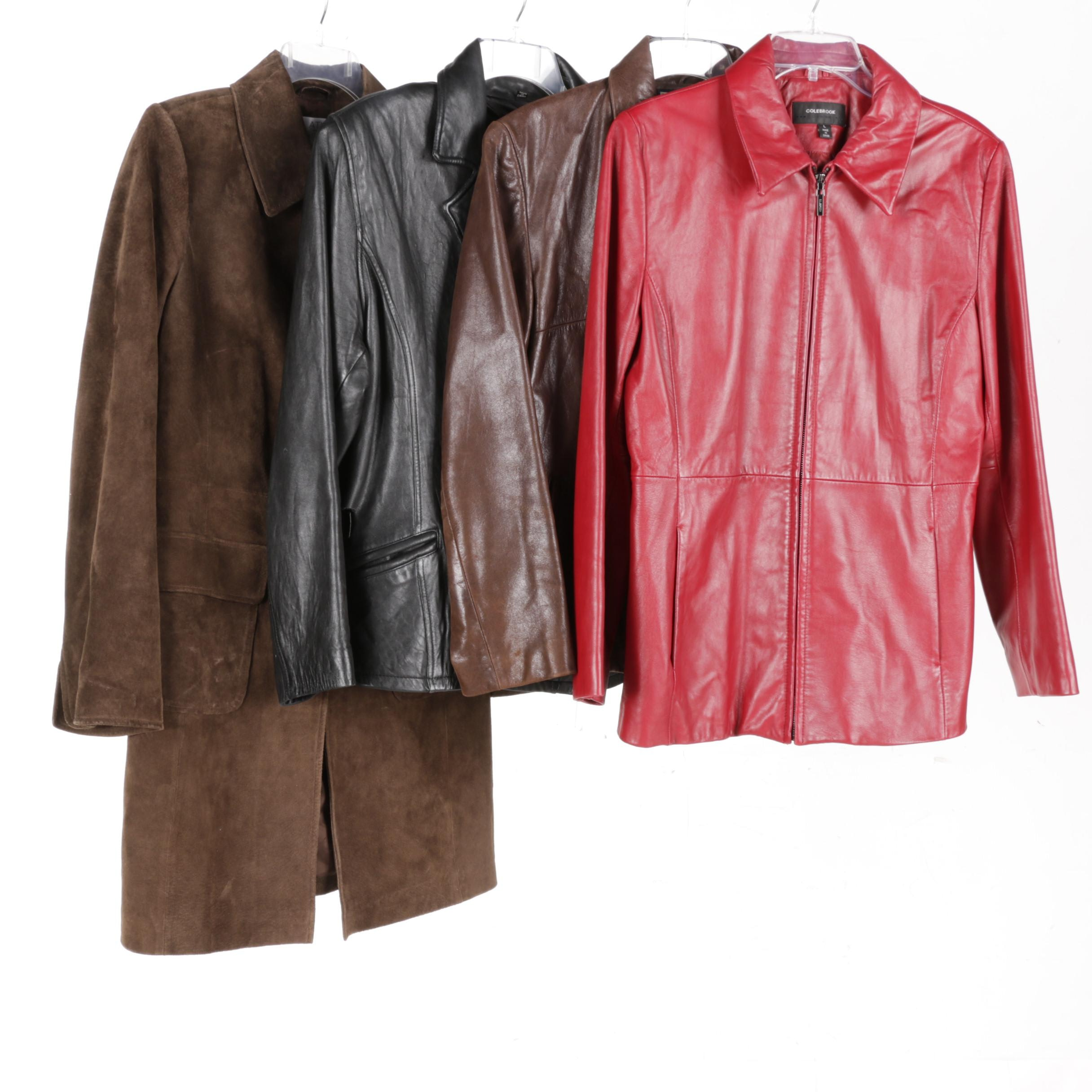 Women's Leather Jackets and a Coat Including Jones New York