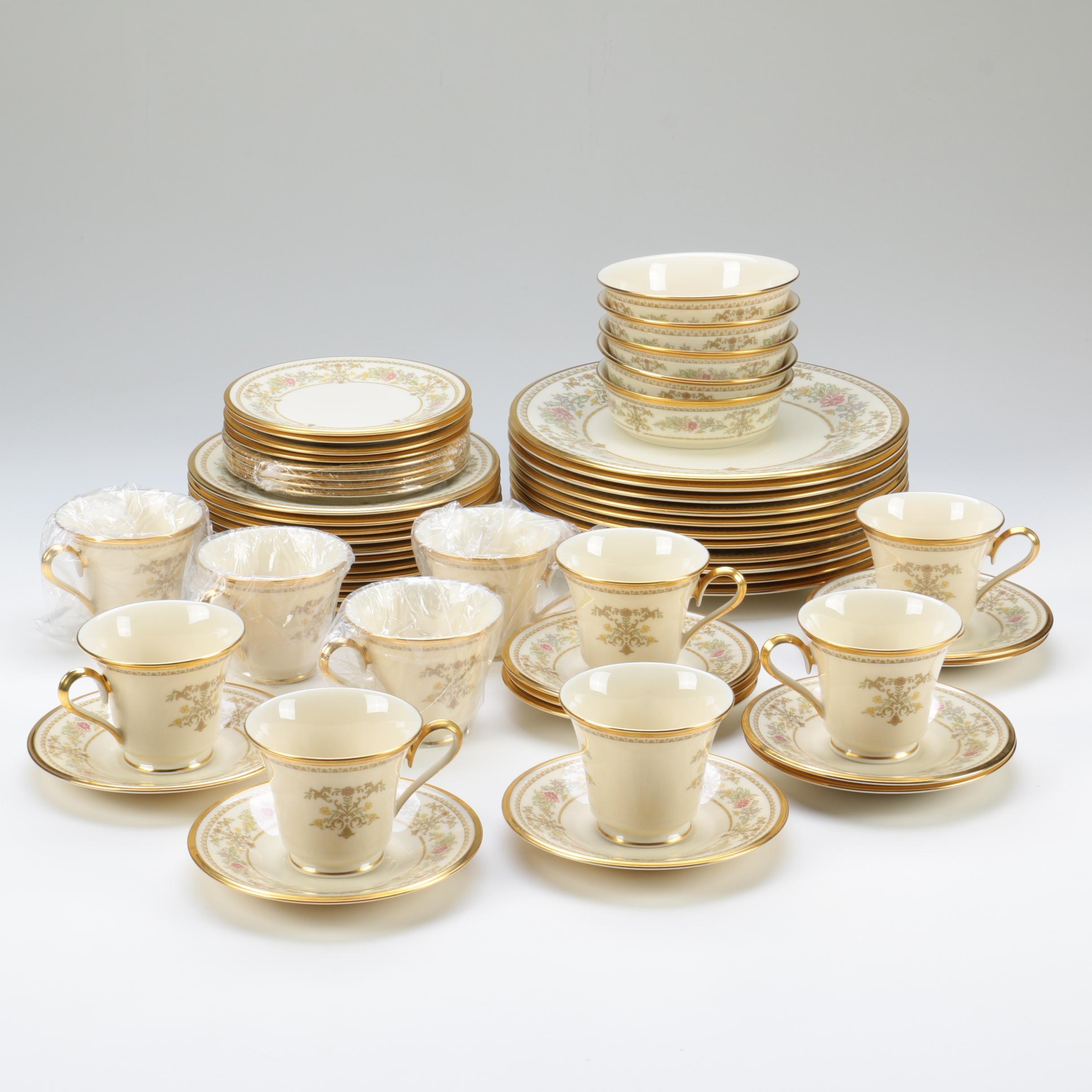 "Collection of Lenox ""Castle Garden"" Porcelain Tableware"