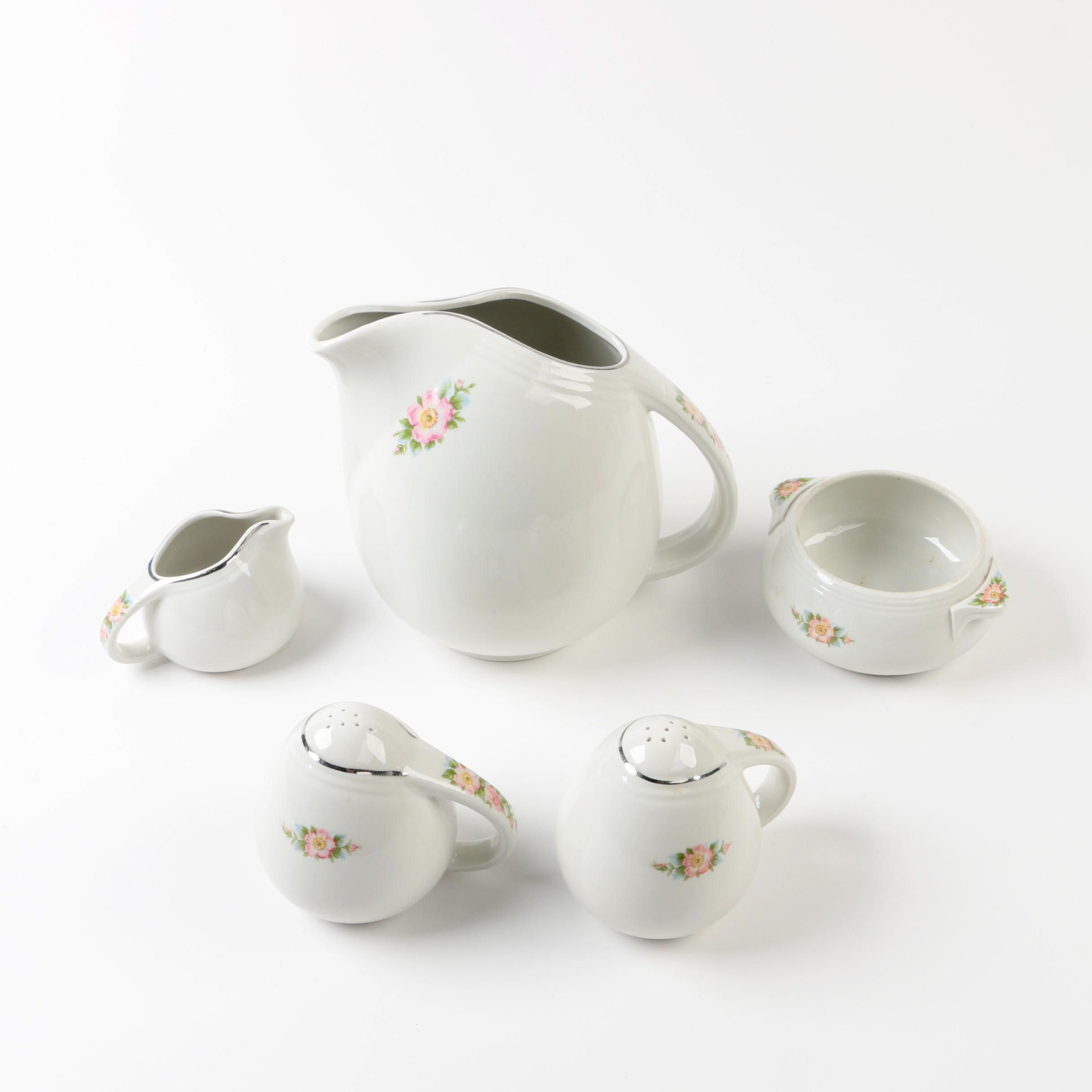 "Vintage Hall ""Rose White"" Porcelain Tableware"