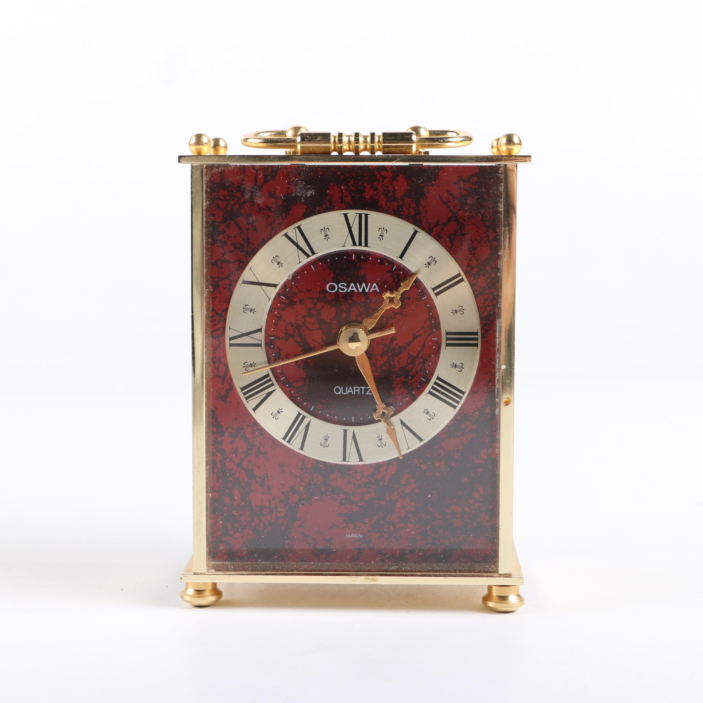 Quartz Operated Desk Clock by Osawa