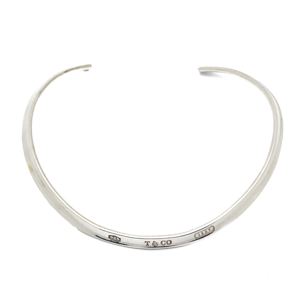 Tiffany & Co Sterling Silver 1837 Collar Necklace