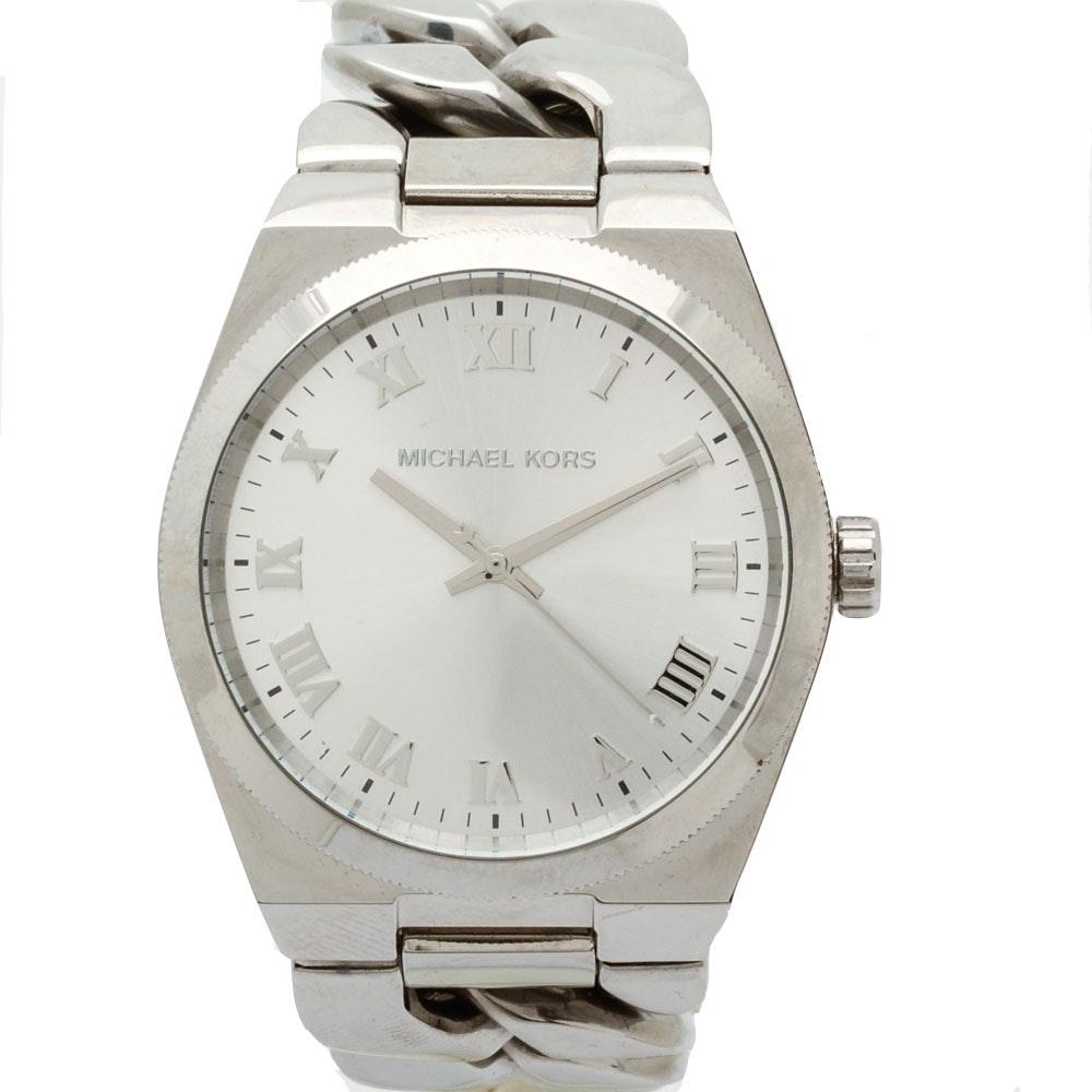 "Michael Kors ""Channing"" Stainless Steel Quartz Wristwatch"