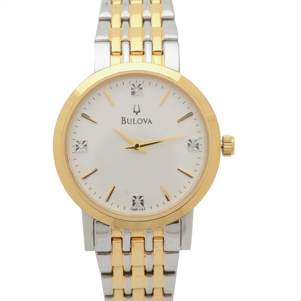 Bulova Classic Diamond Quartz Wristwatch