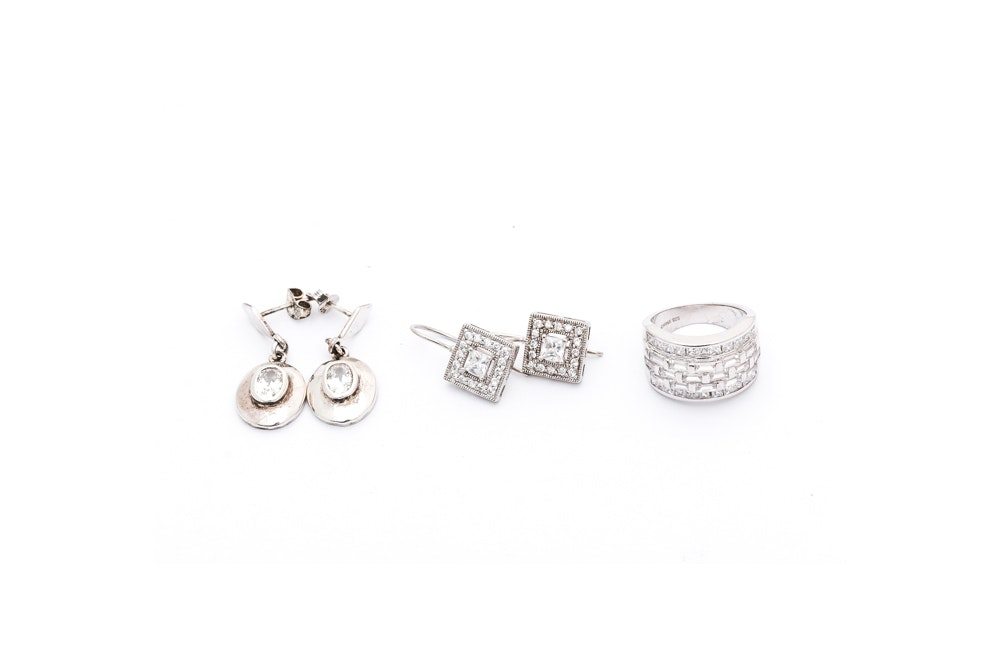 Sterling Silver Cubic Zirconia Jewelry
