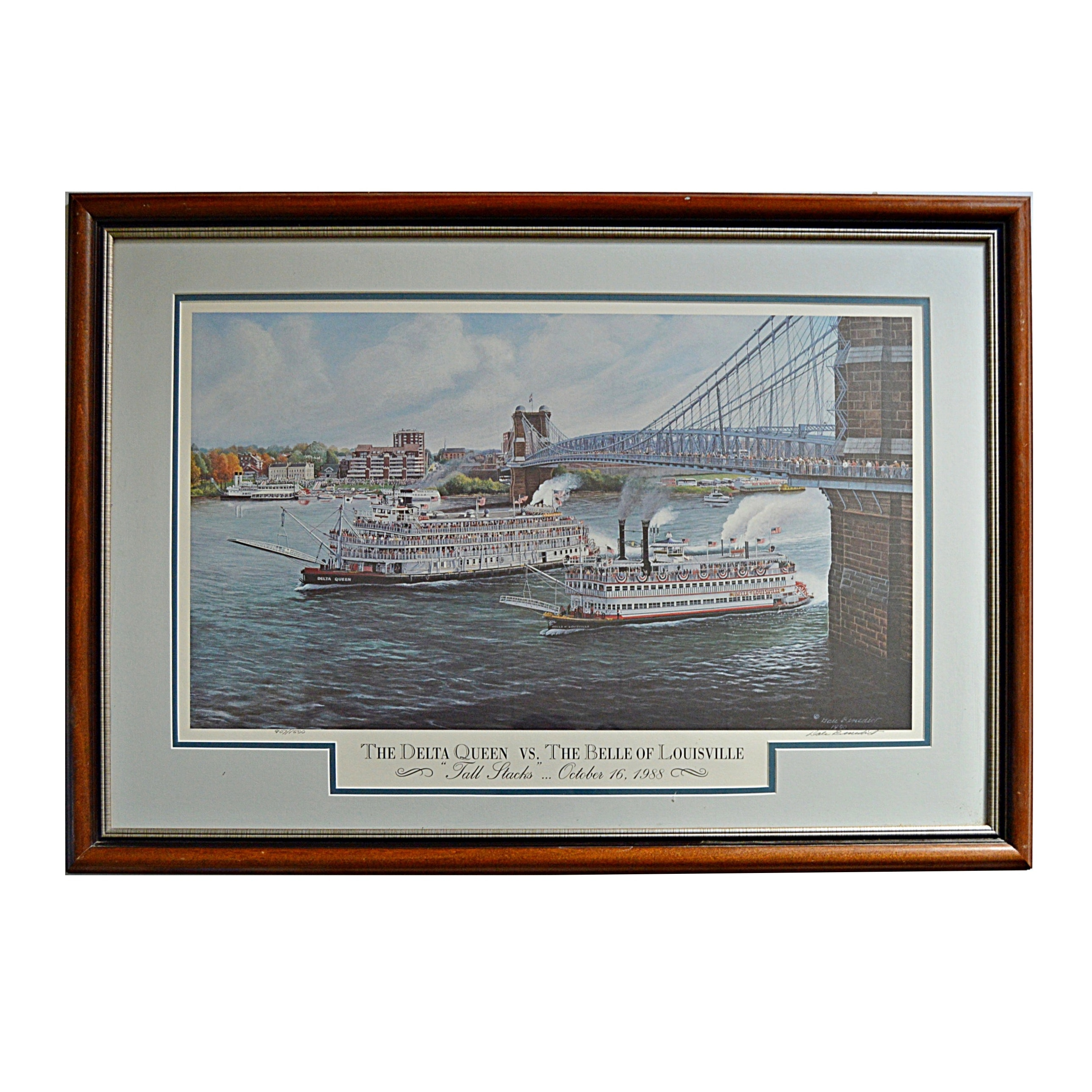 "Dale Benedict Signed Limited Edition Offset Lithograph ""Delta Queen ..."""