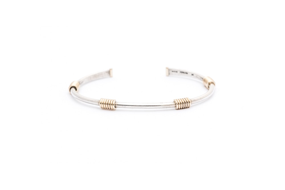 James Avery Sterling Silver 14K Gold Cuff Bracelet