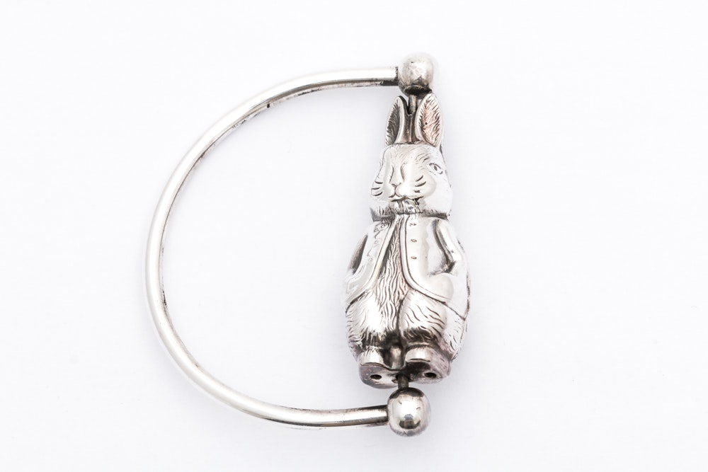 Sterling Silver Bunny Rattle