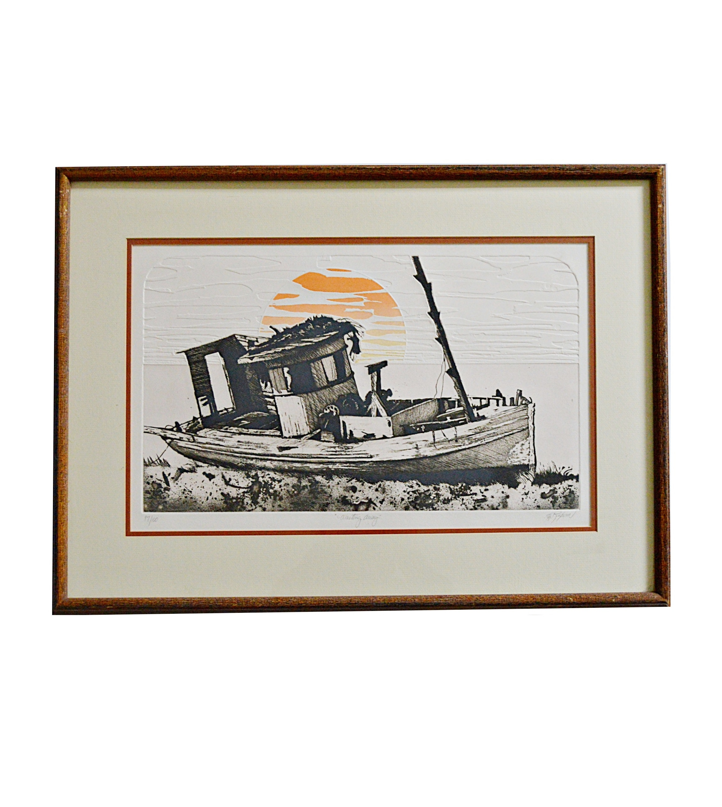 "Dale Rayburn Signed Limited Edition Etching ""Wasting Away"""