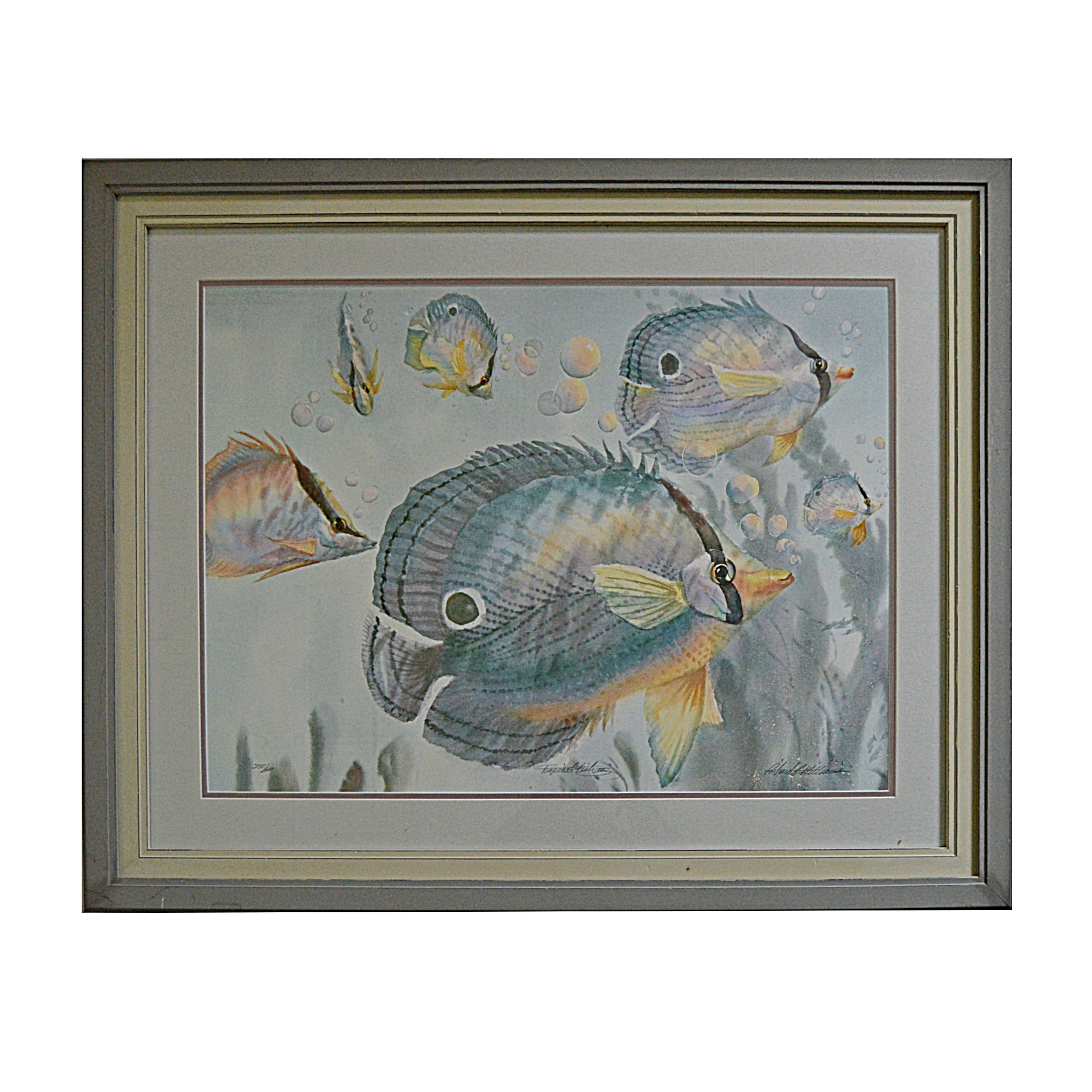 "Richard Williams Signed Print Titled ""Tropical Fish III"""