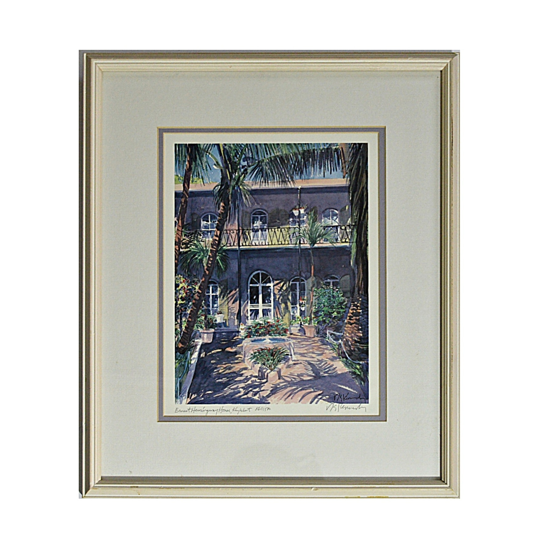 R. E. Kennedy Signed Limited Edition Print after a Watercolor