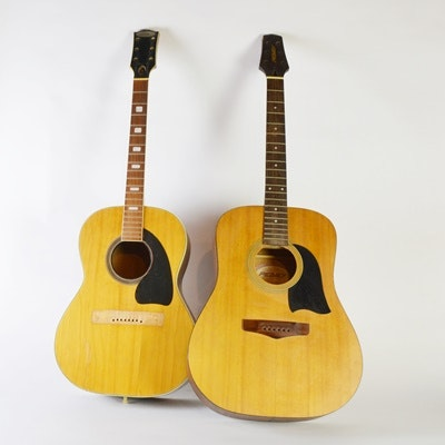 Circa 1960 Peavey Acoustic Guitar and Bruno Maxitone Acoustic Guitar
