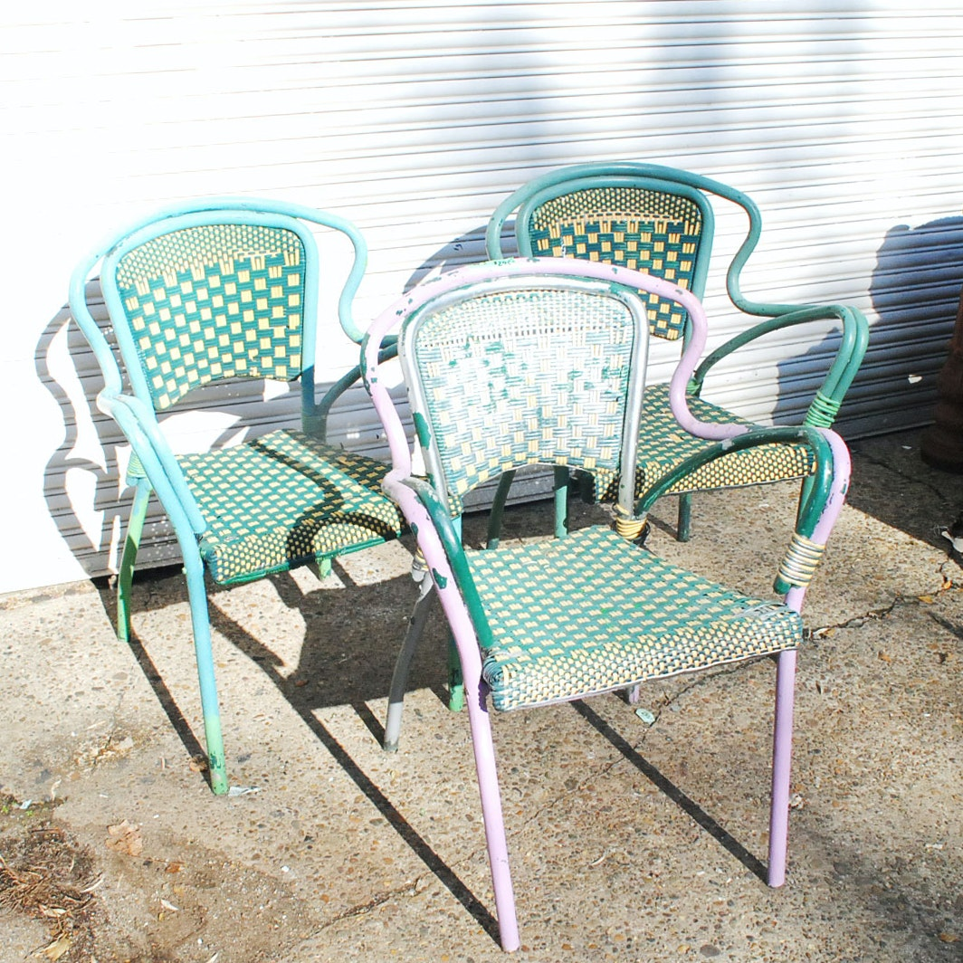 Vintage Painted Patio Chairs