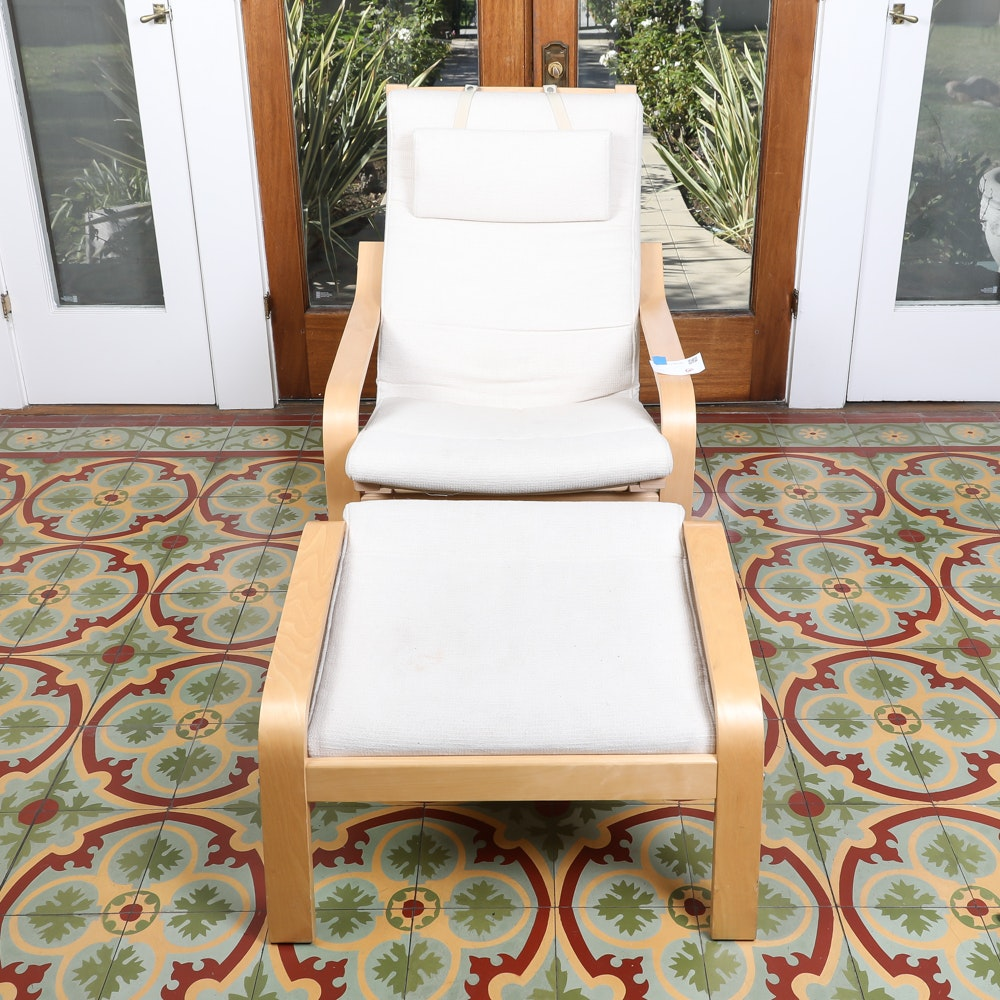 Beau Bentwood Lounge Chair And Ottoman By IKEA ...