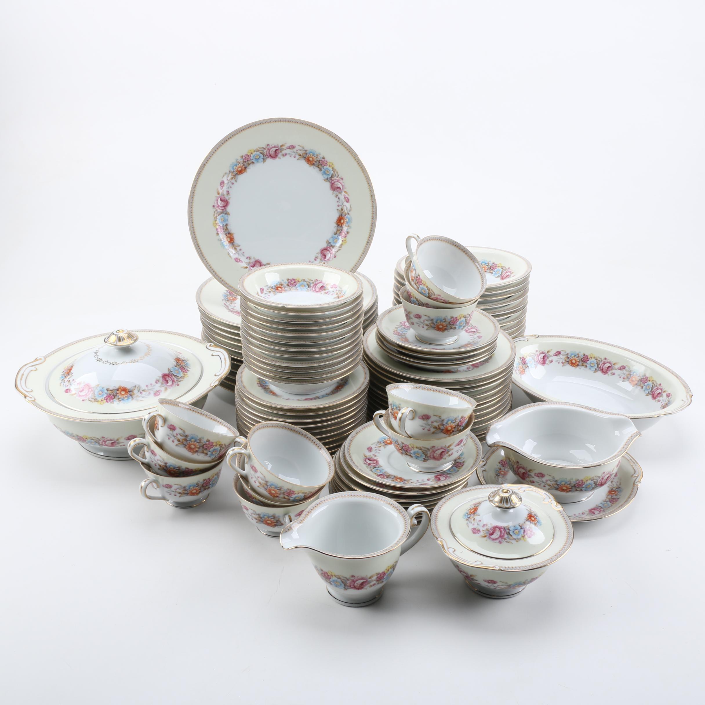 Vintage Jyoto Japanese Porcelain Dinnerware 1940s