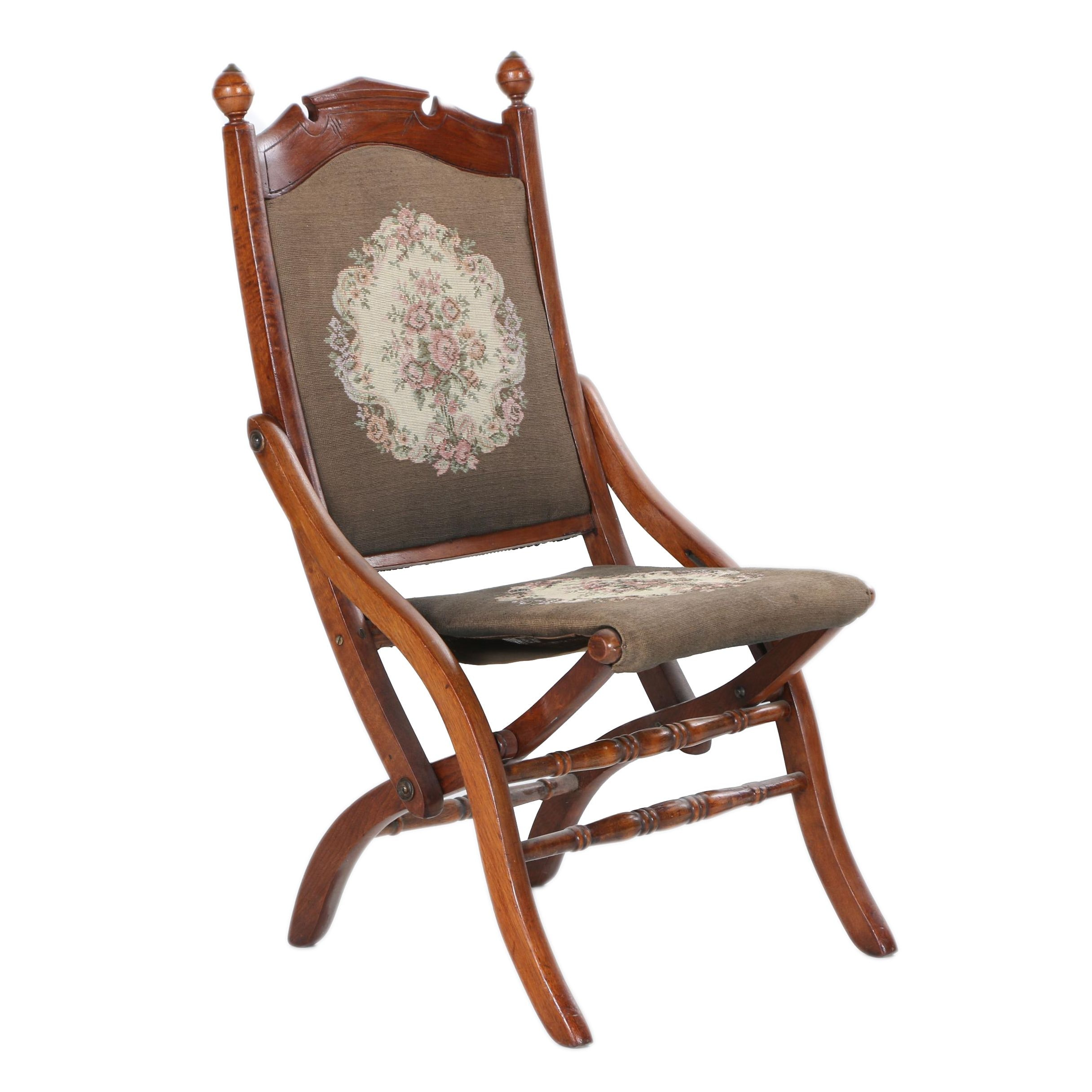 Victorian Style Folding Chair