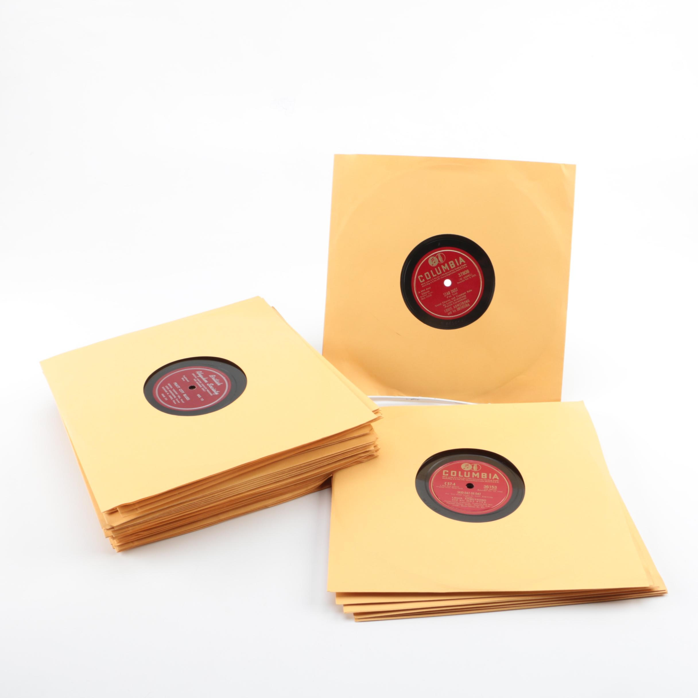 """Louis Armstrong, """"Fats"""" Waller and Other Jazz and Popular Music 78 RPM Records"""