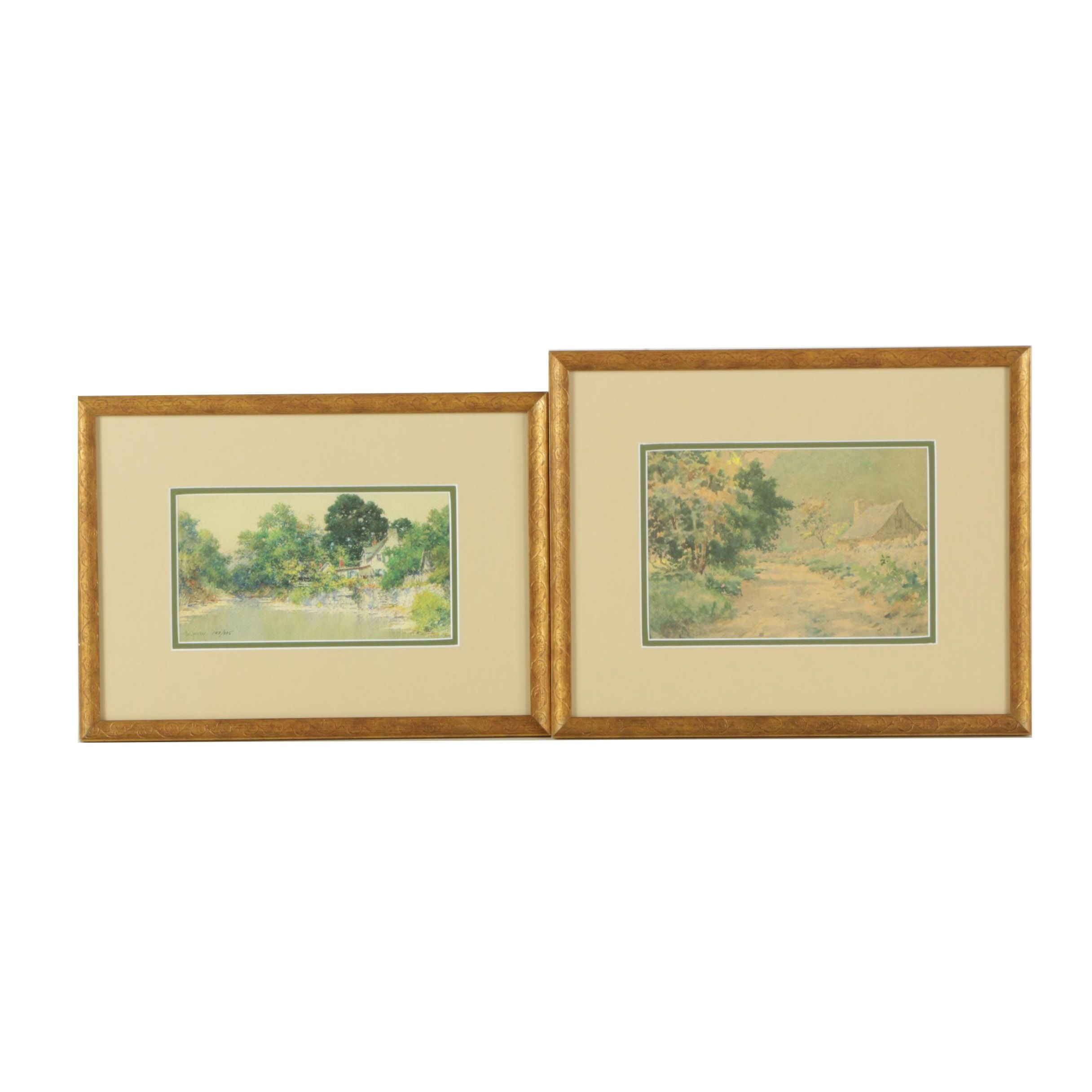 Pair of Offset Lithographs After Paul Sawyier
