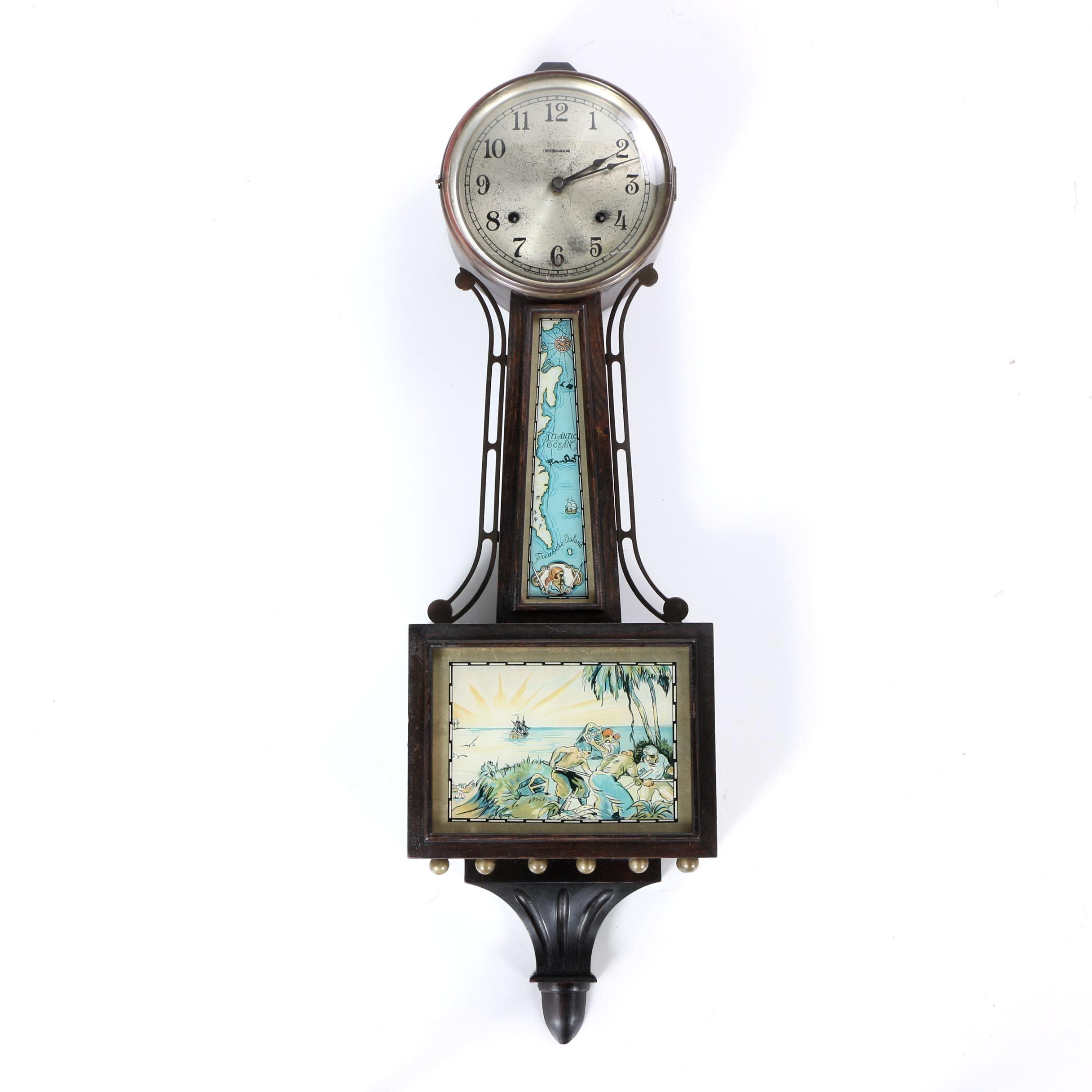 "Vintage Ingraham ""Treasure"" Banjo Wall Clock"