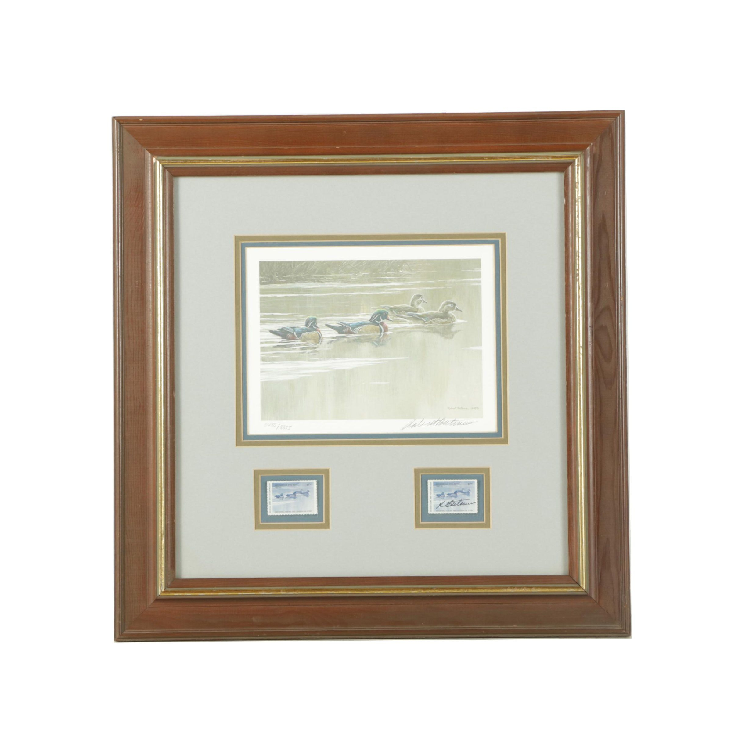 Robert Bateman Limited Edition Offset Lithograph with Stamps