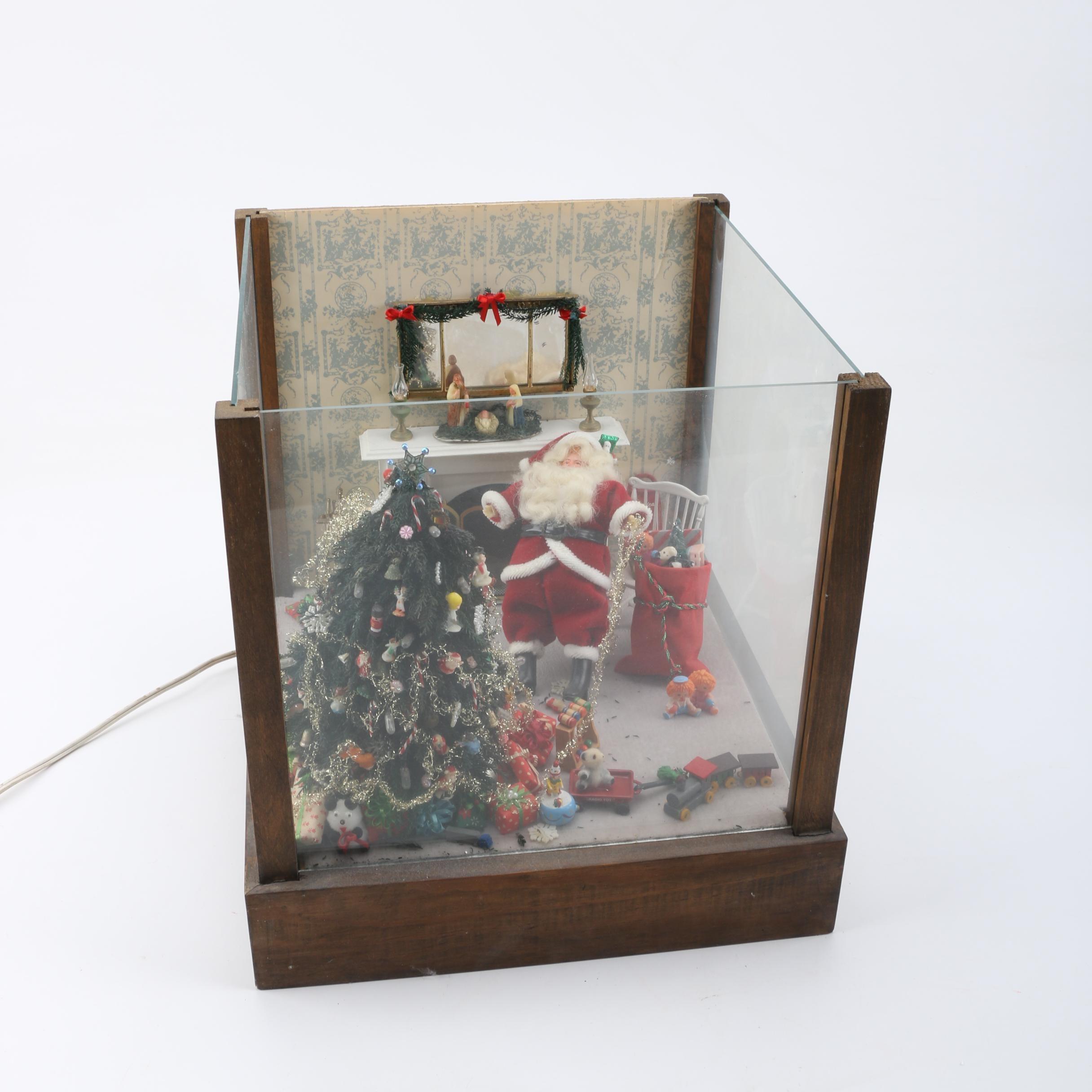 Lighted Miniature Christmas Scene