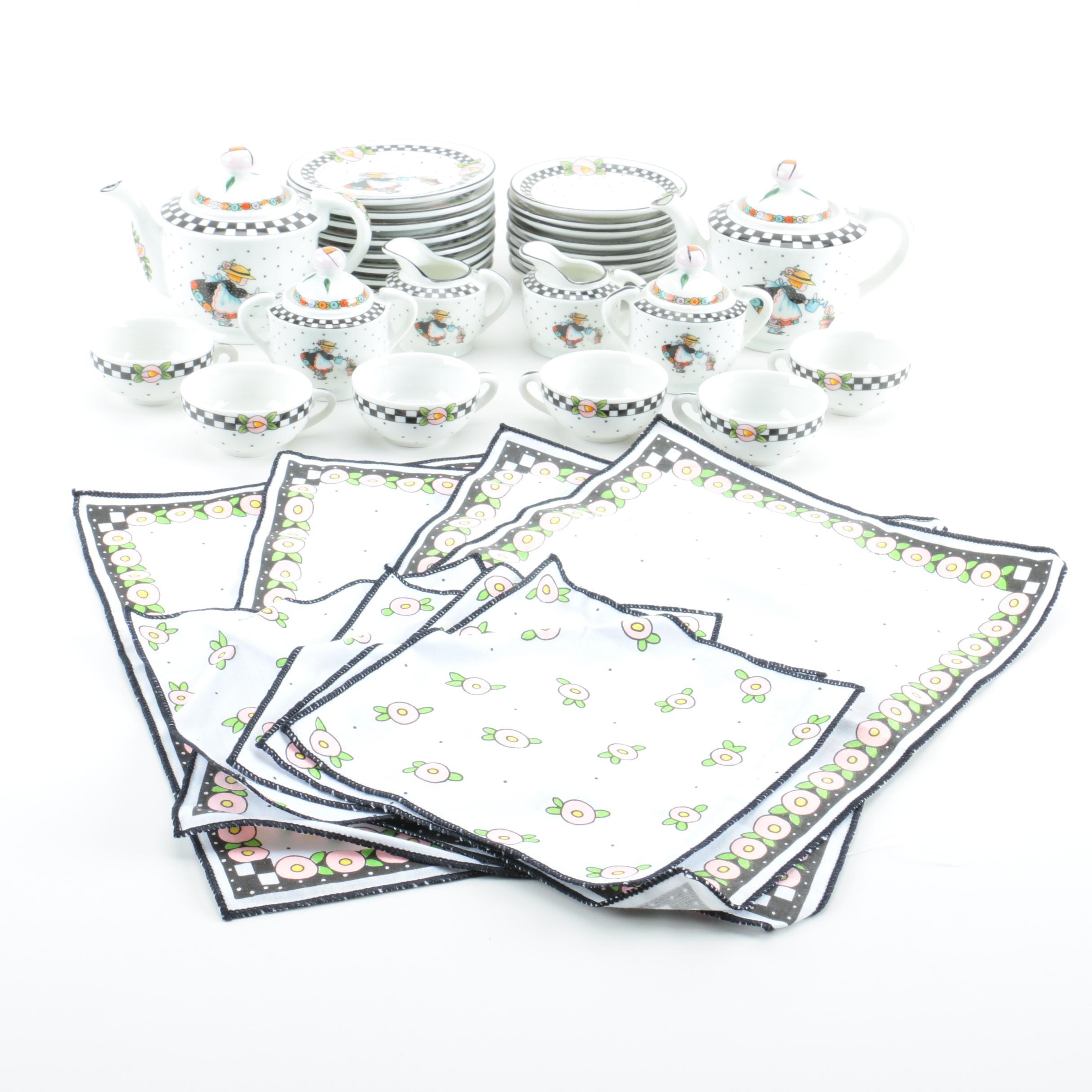 Ceramic Tea Set by Mary Engelbreit