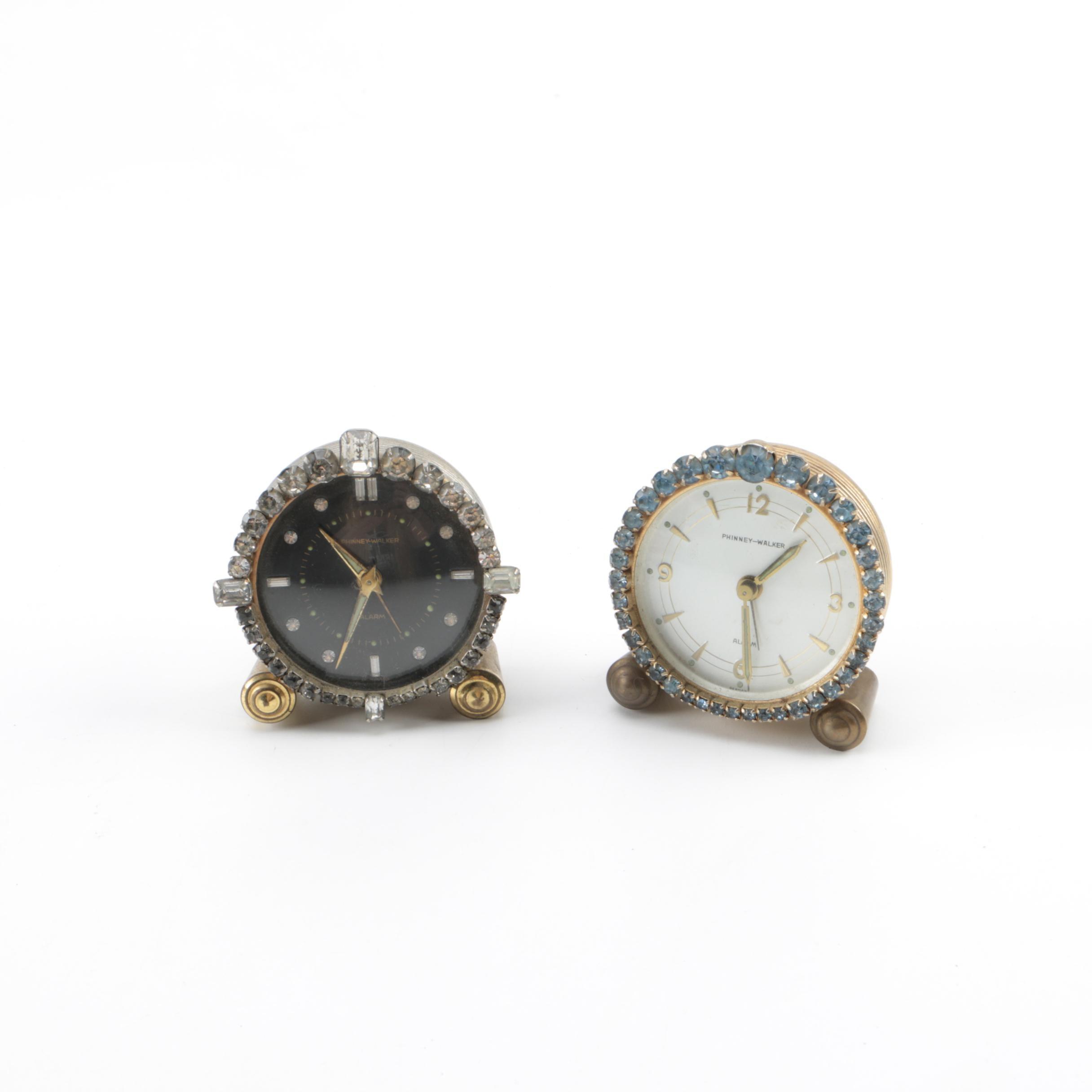 Pair of Phinney-Walker Table Clocks