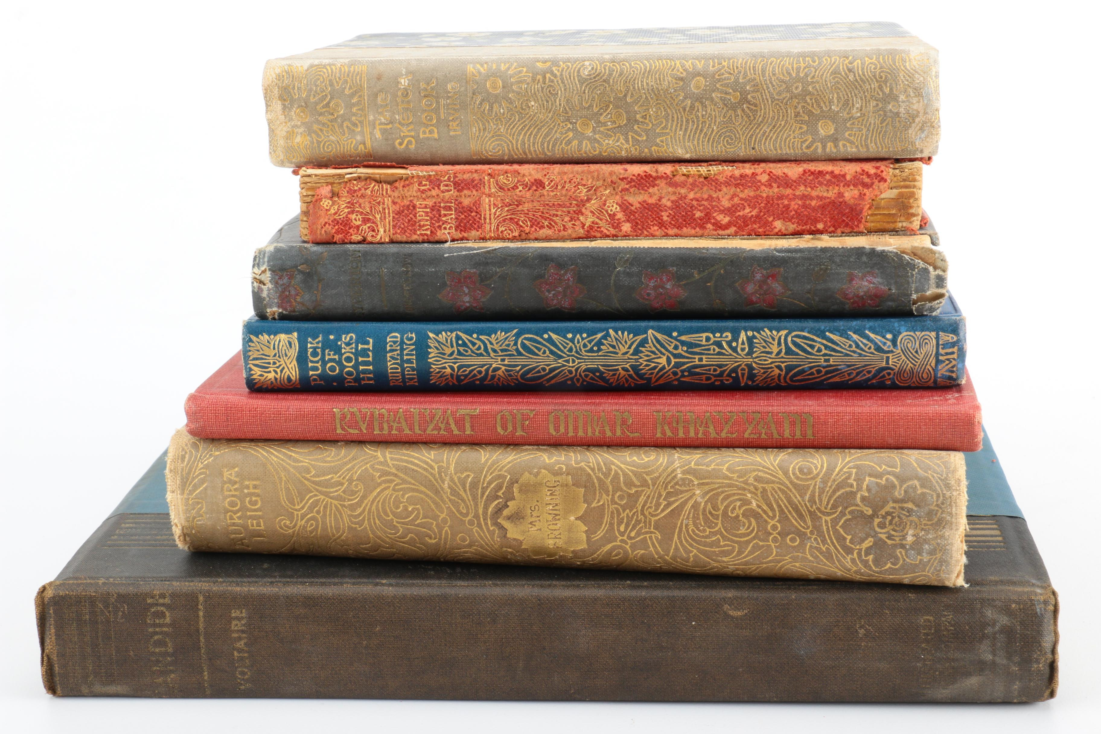 Collection of Poetry and Fiction Books Featuring Rudyard Kipling