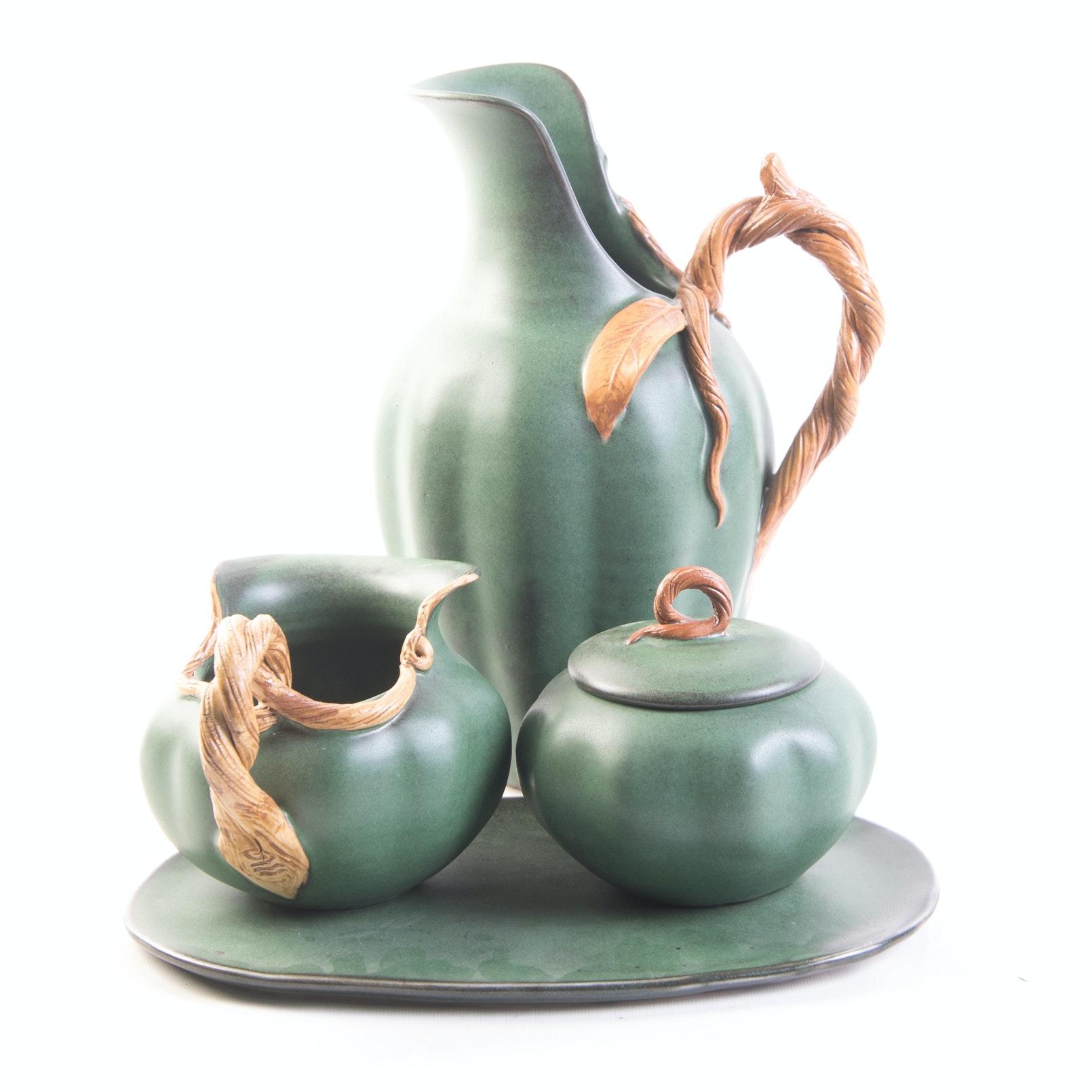 Figurative Thrown and Altered Porcelain Beverage Set