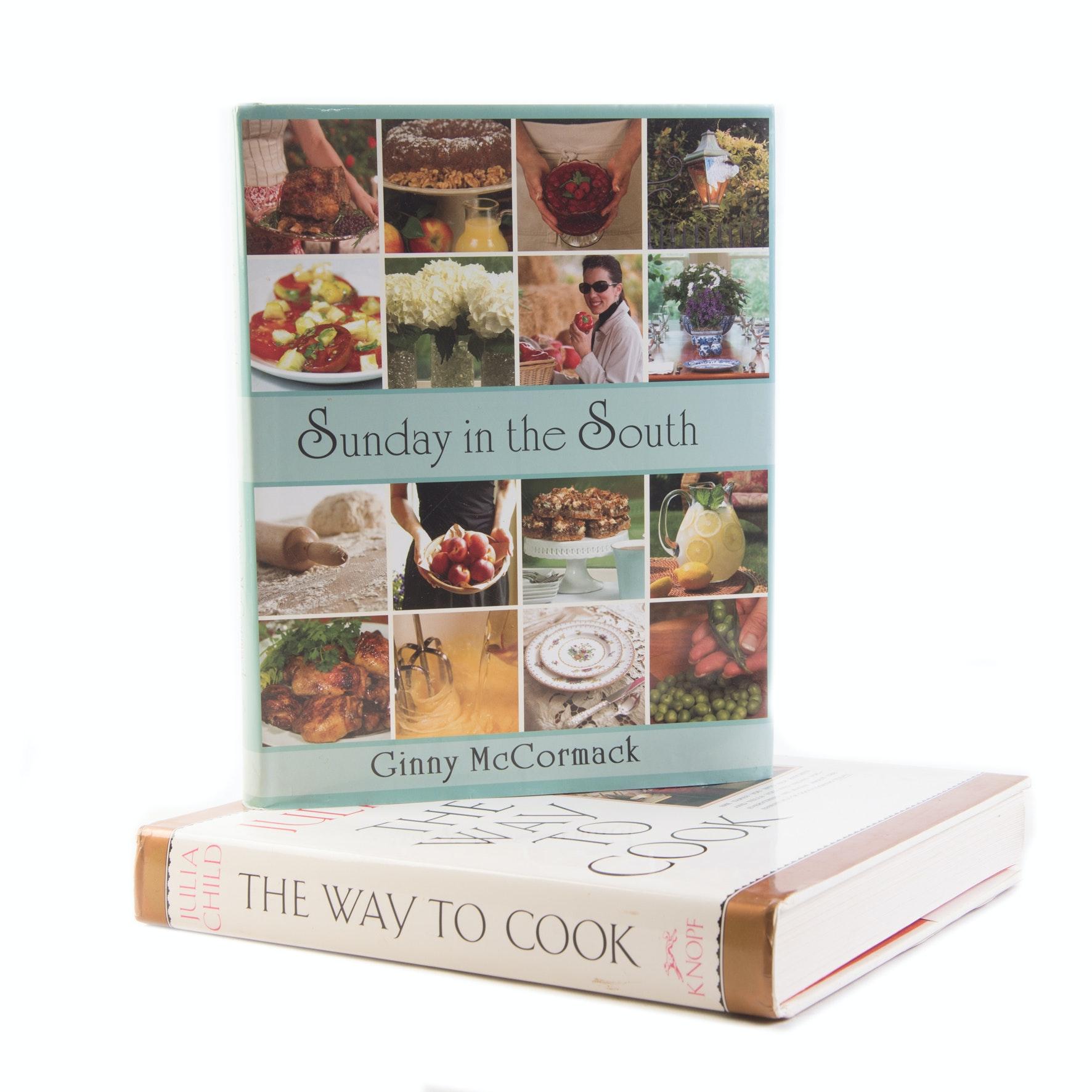 Julia Child and Ginny McCormack Cookbooks