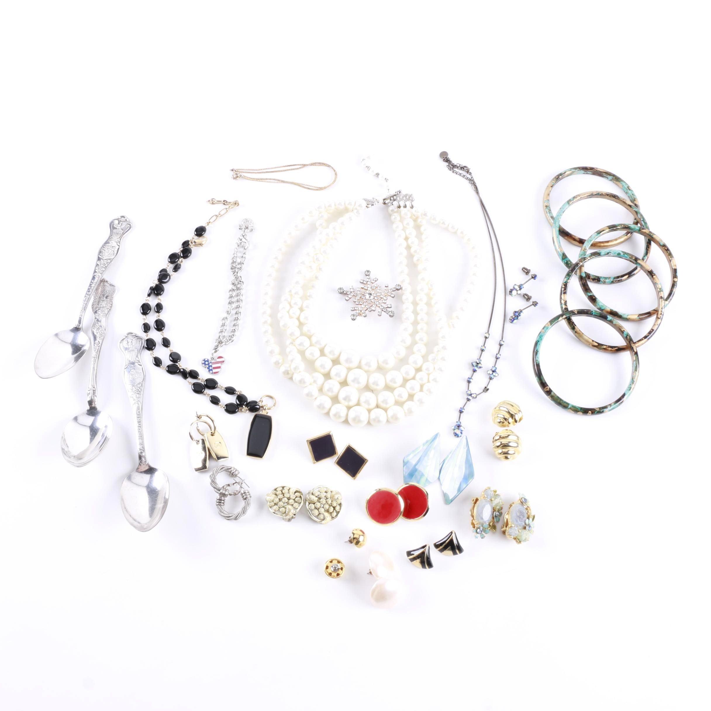 Costume Jewelry Assortment Including Disney and Coro