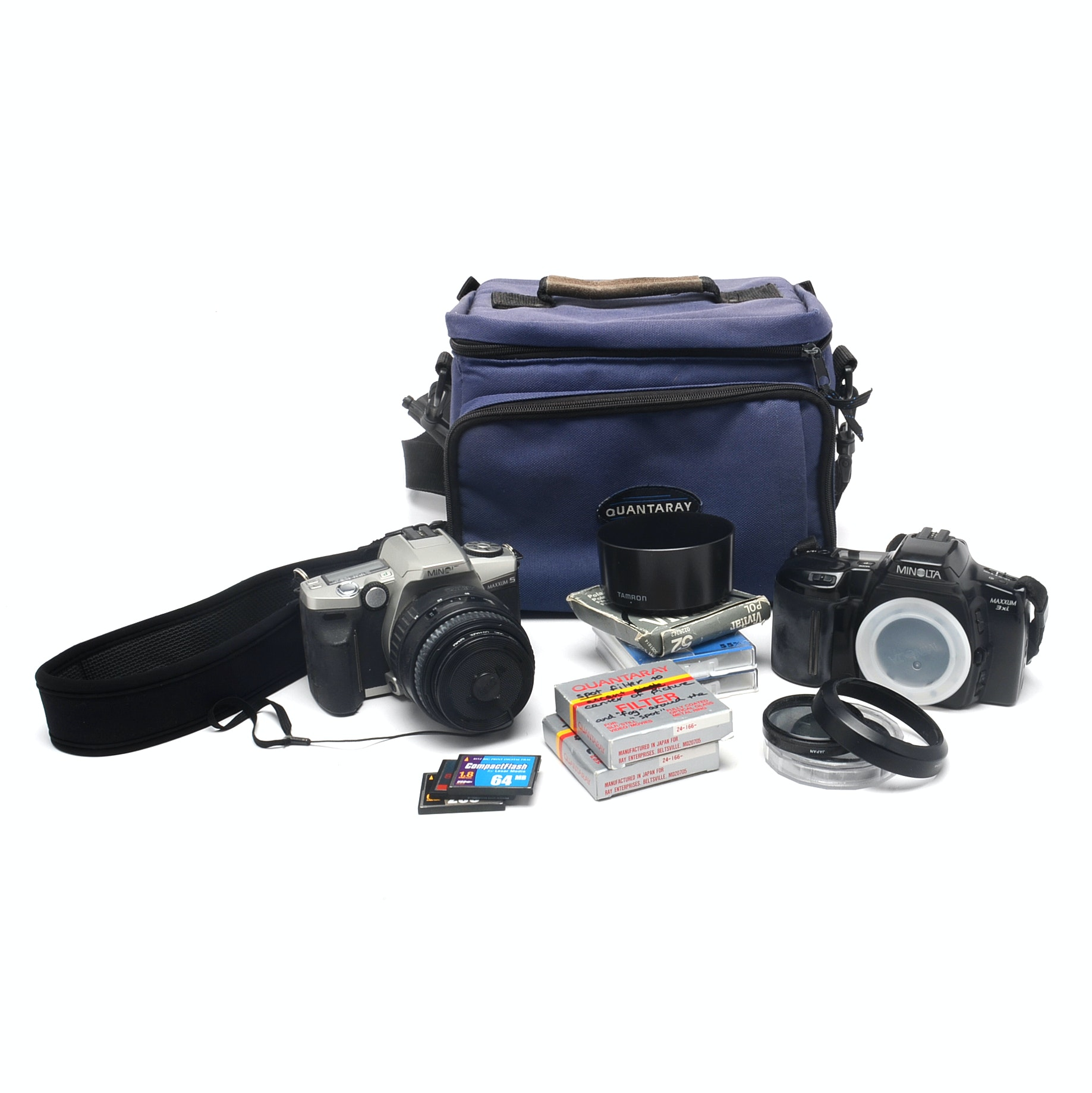"Minolta ""Maxxum"" 35mm Film Cameras With Accessories"